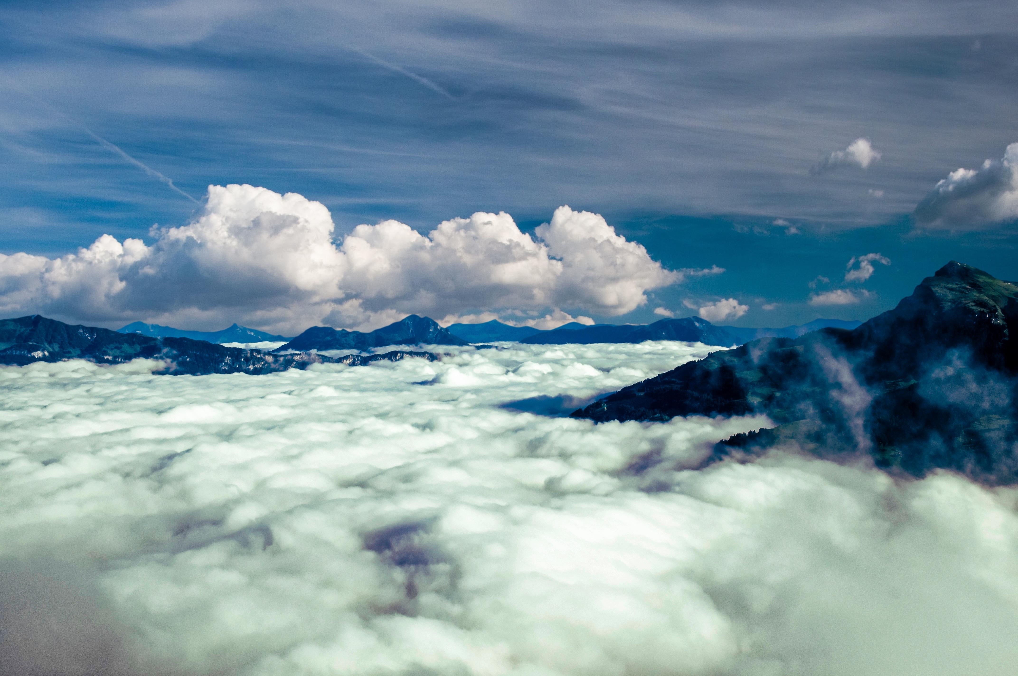 картинка выше облаков в горах холодильная