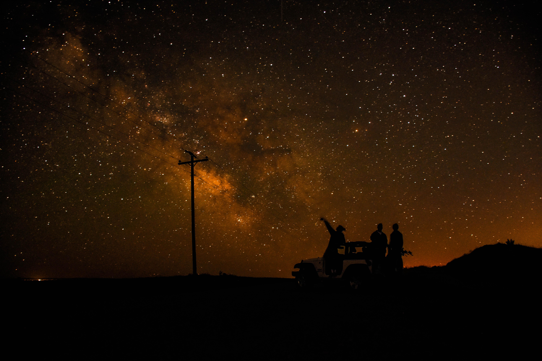 Gambar Pemandangan Langit Bintang Bima Sakti Suasana Ruang