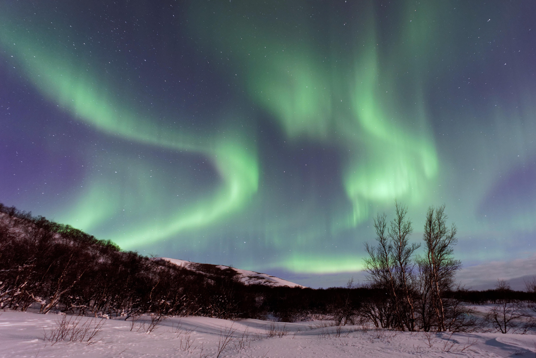 Gambar Pemandangan Alam Salju Musim Dingin Langit Suasana