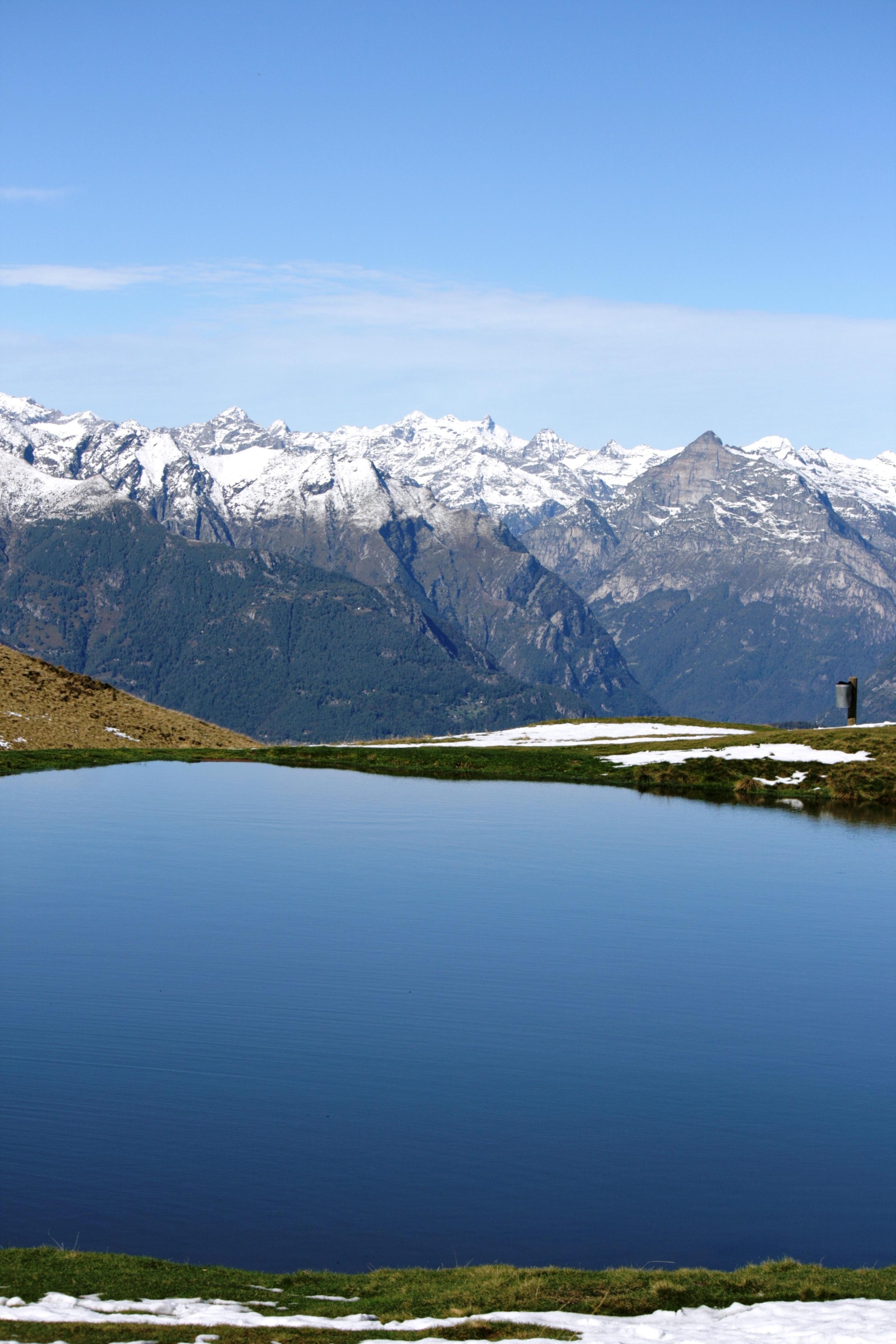 2b15249d7ba landscape nature wilderness mountain snow lake mountain range reflection  fjord reservoir body of water alps plateau