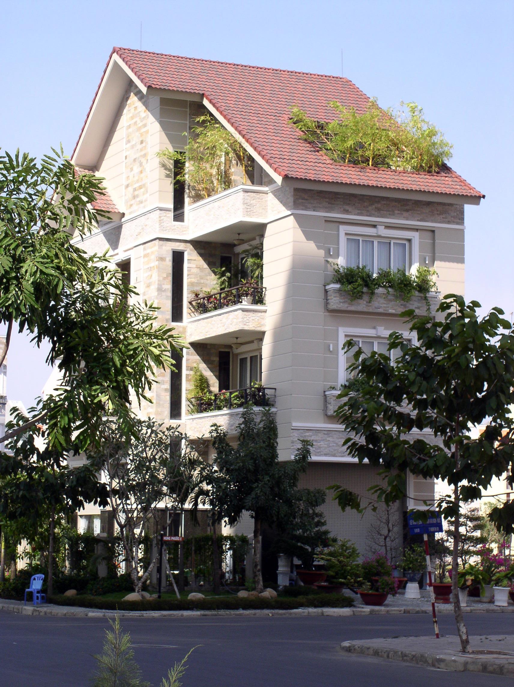 Gambar Pemandangan Outdoor Arsitektur Menanam Rumah Kota
