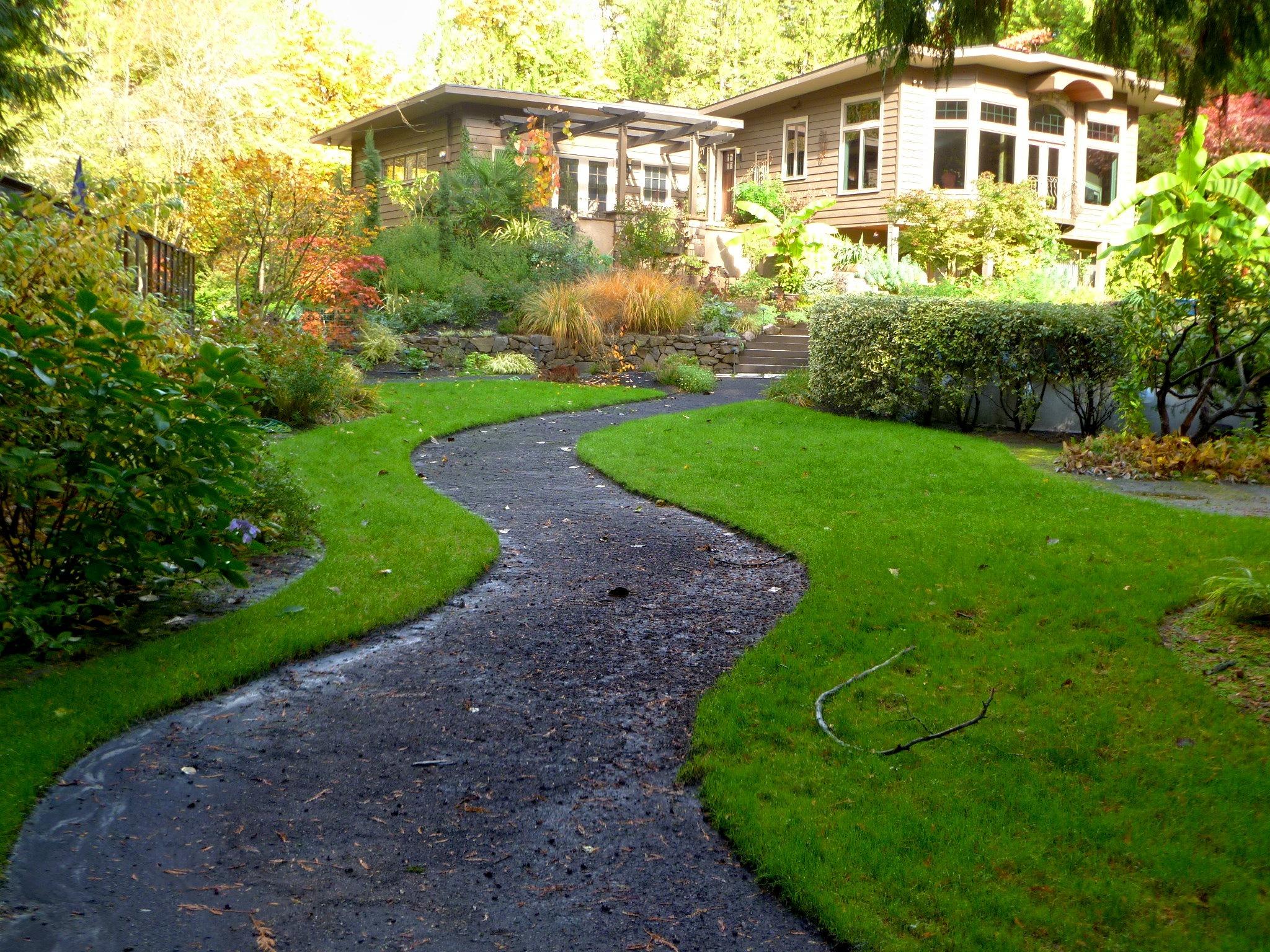 images gratuites   paysage  chemin  herbe  pelouse  maison  passerelle   u00e9t u00e9  tropical  luxuriant