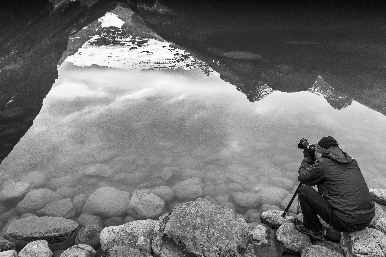 Landscape rock creative mountain snow black and white white street photography lake adventure photo ice reflection