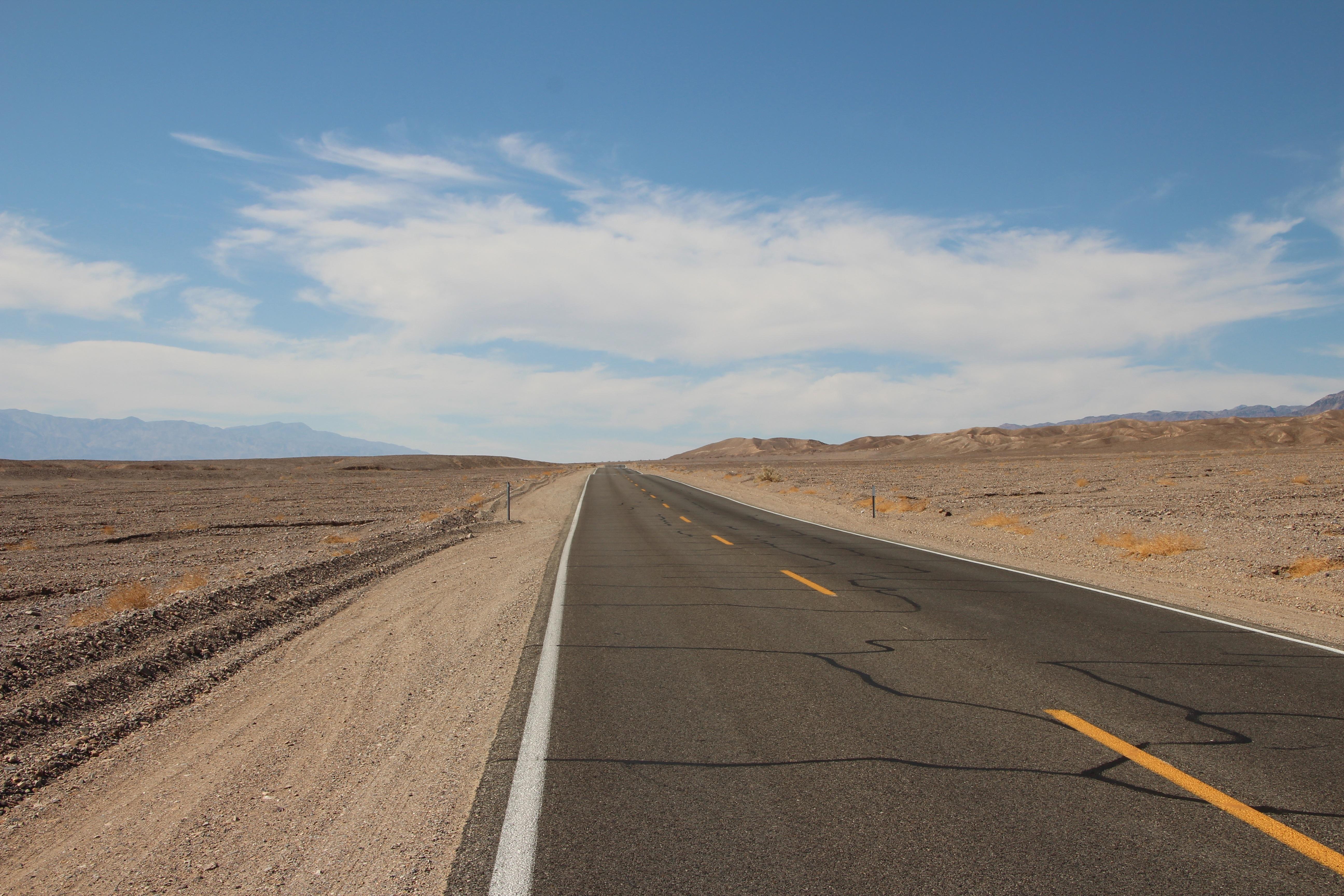 Free Images : landscape, sand, horizon, mountain, street ...