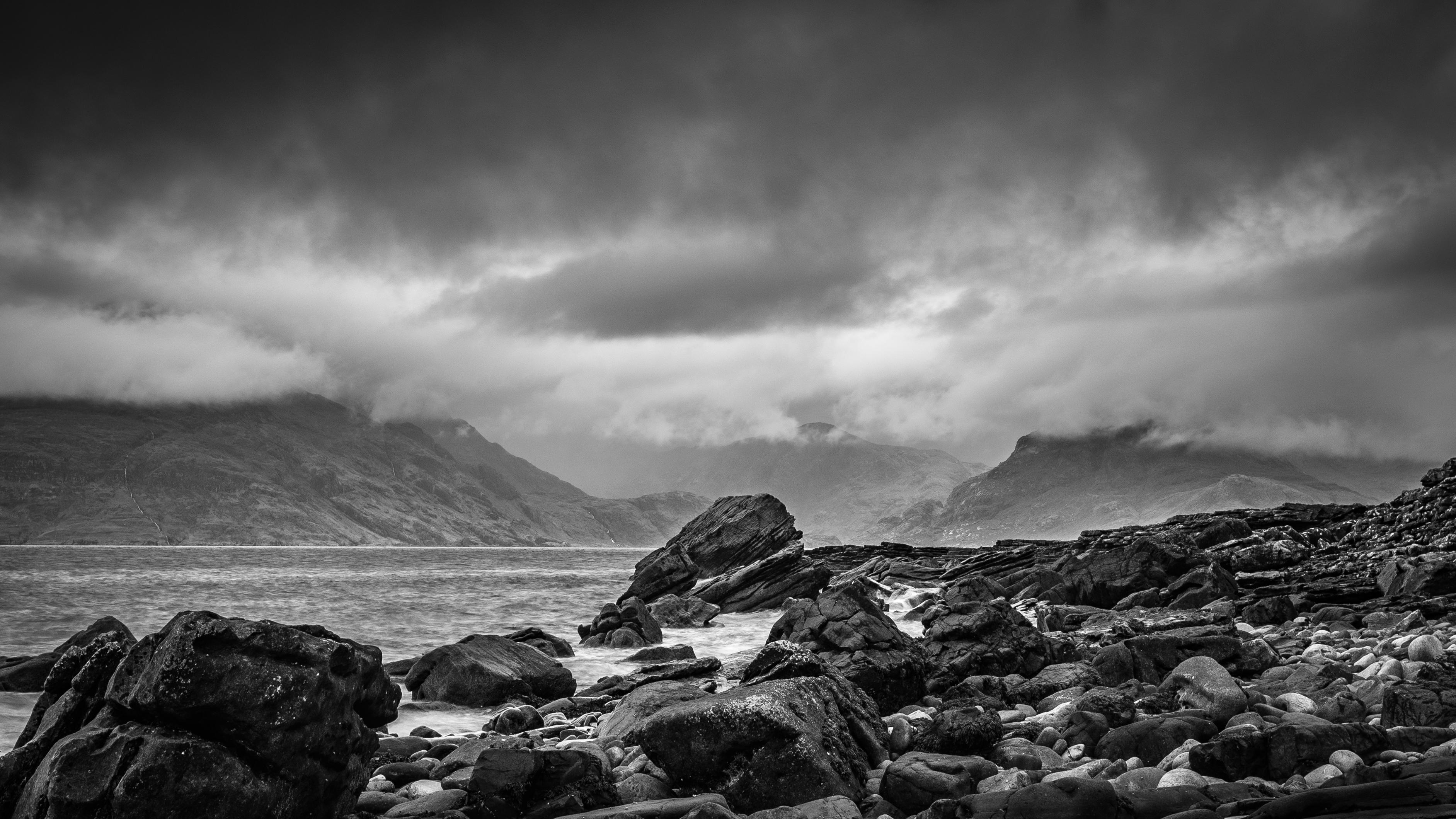 Free images landscape sea coast rock ocean horizon mountain snow cloud black and white sky weather storm darkness nikon rocks d750 skye