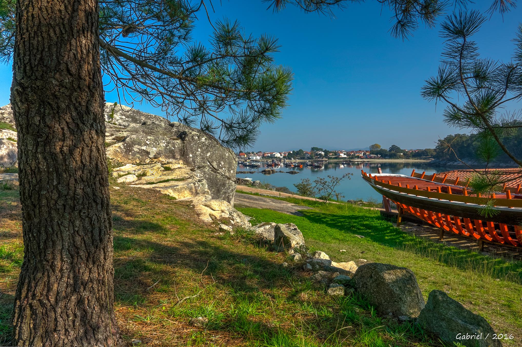 images gratuites paysage mer c te arbre lac rivi re voie navigable espagne galice. Black Bedroom Furniture Sets. Home Design Ideas