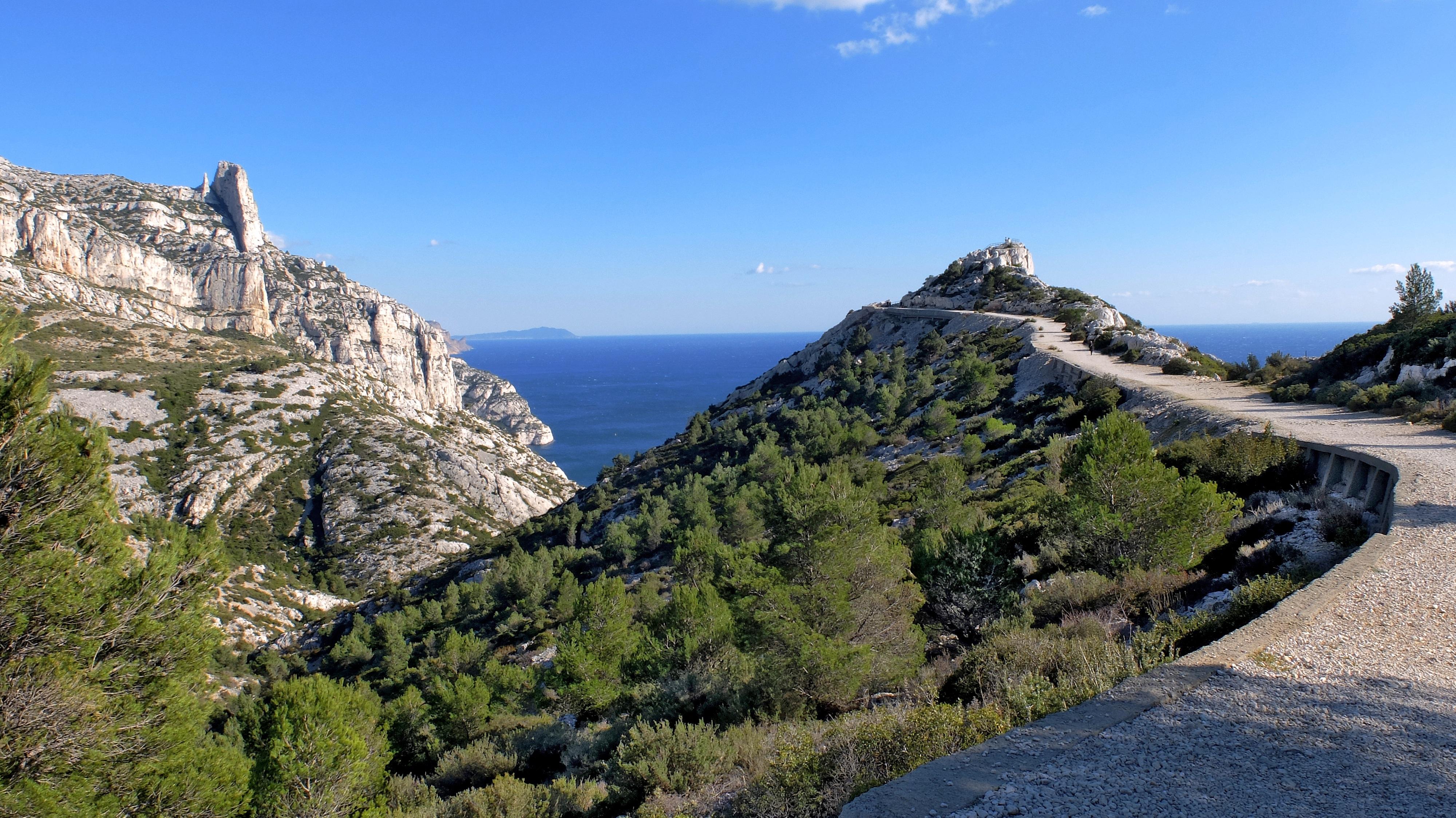 Images gratuites paysage mer c te arbre roche for Agence de paysage marseille