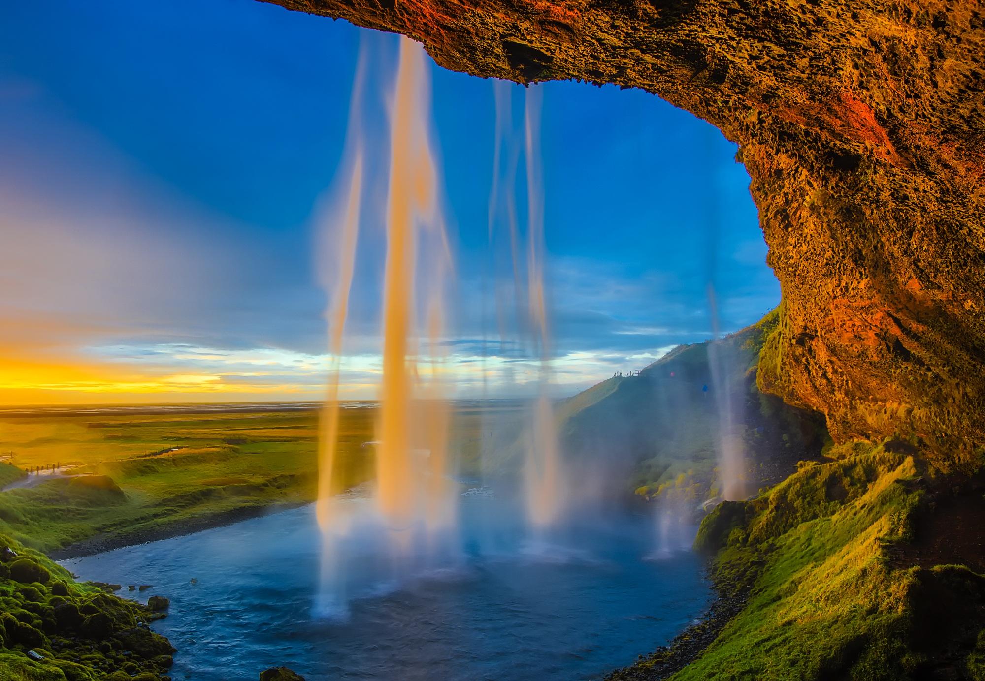Free landscape sea coast nature rock waterfall