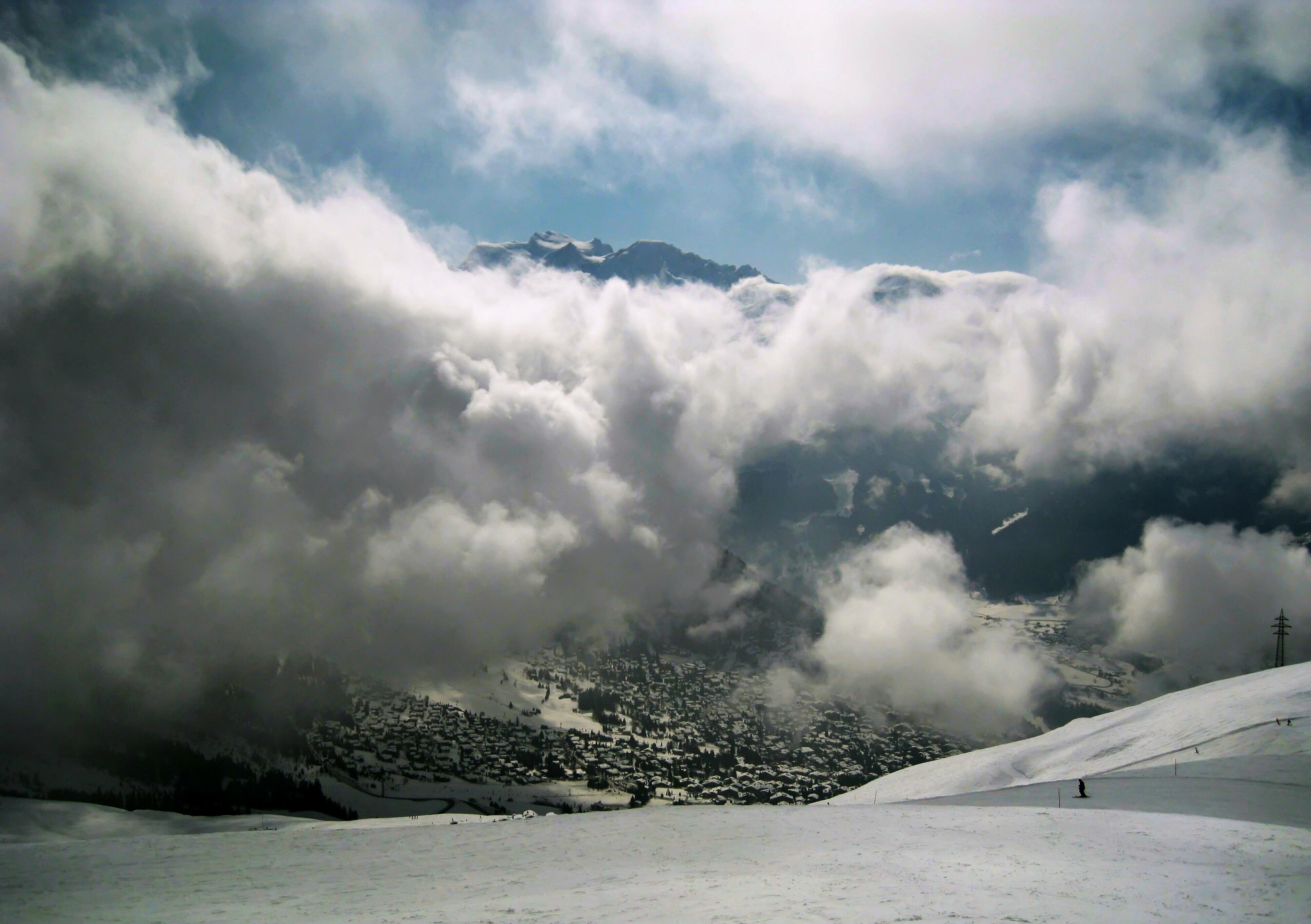 Free Images : sea, nature, horizon, cold, sky, mist, white