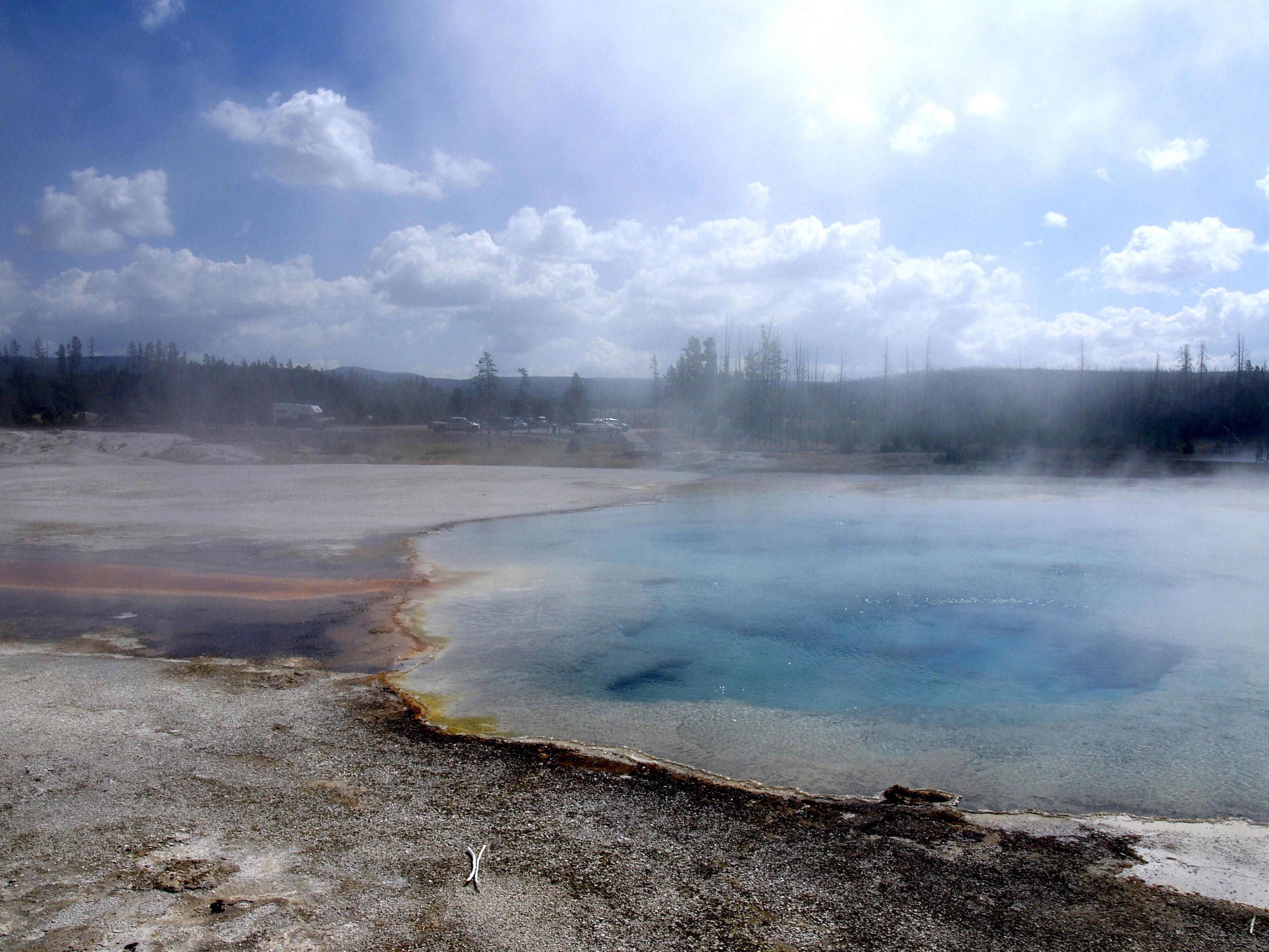 Fotos gratis paisaje mar naturaleza nube niebla for Estanque para agua caliente