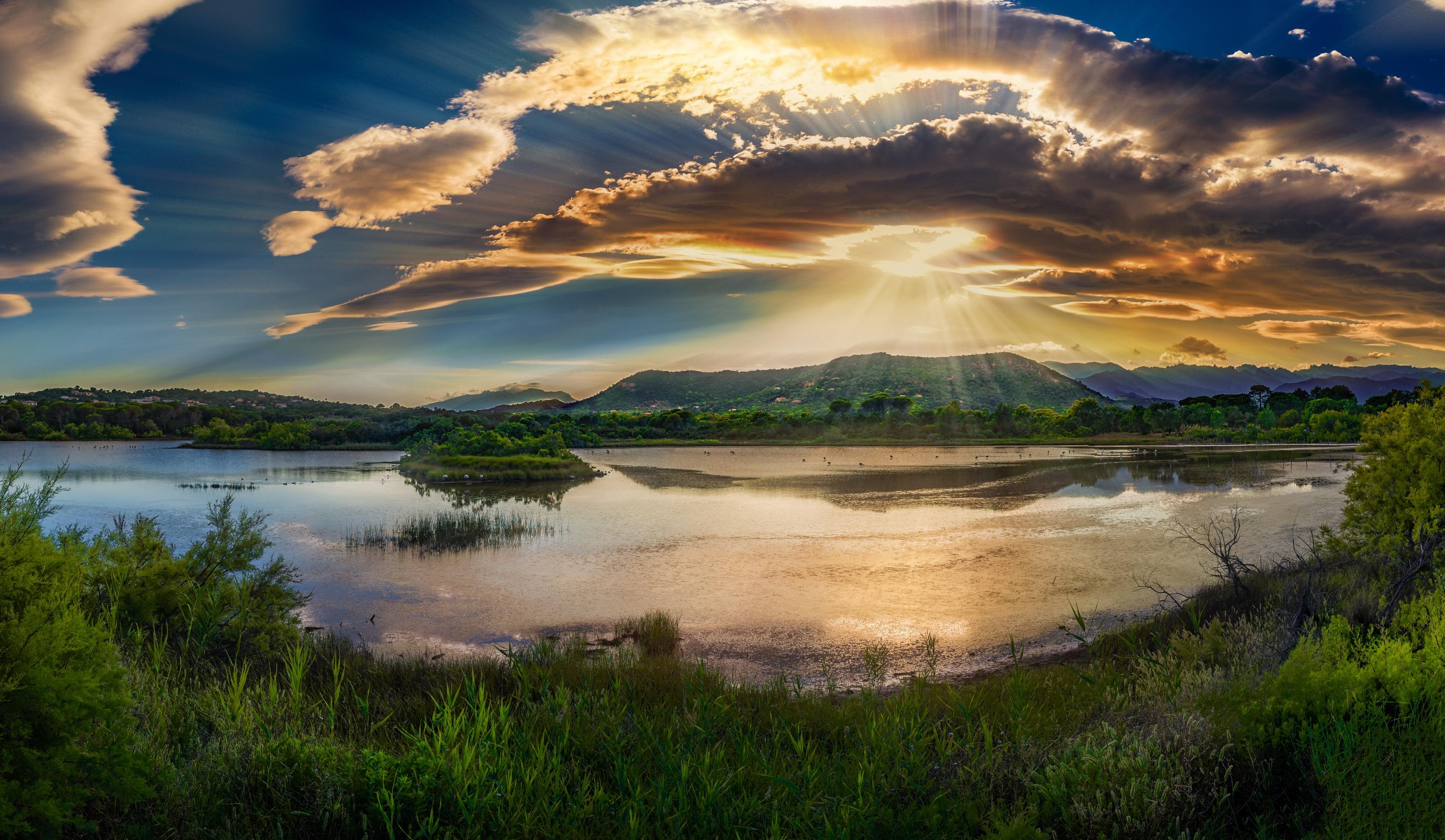 Gambar : pemandangan, laut, air, Outdoor, horison, rawa, cahaya