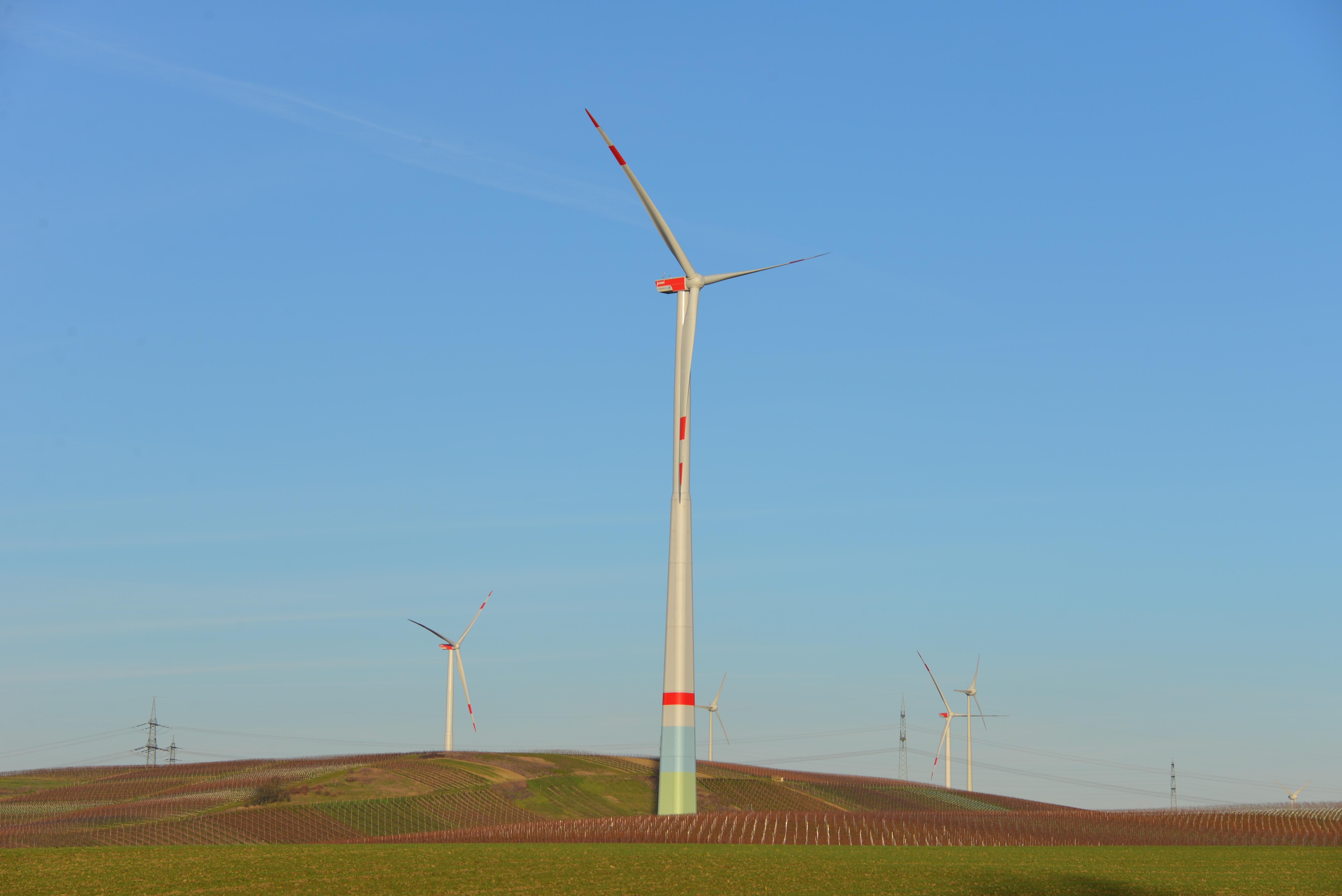 Free landscape sky field meadow prairie windmill