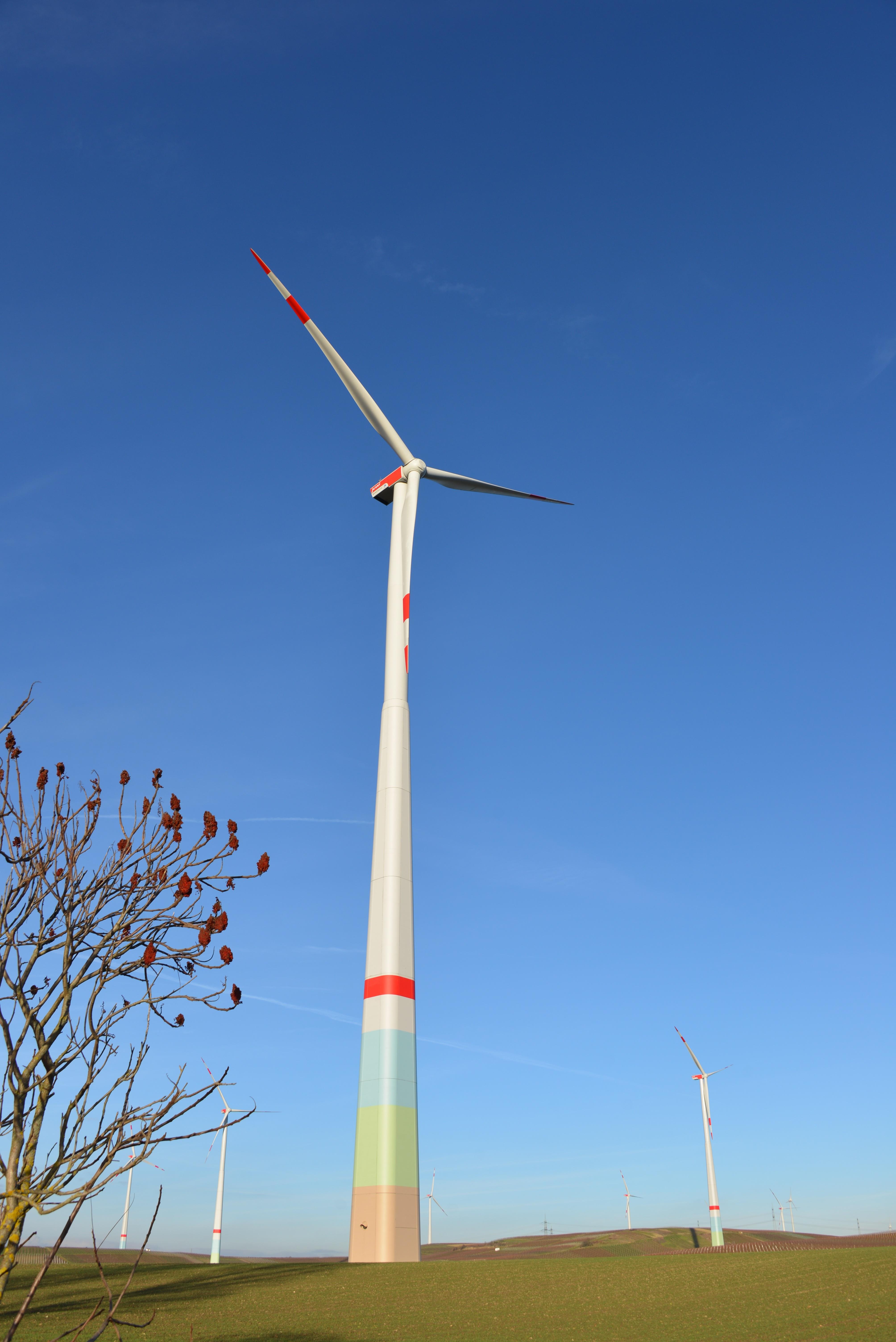 Free landscape sky field meadow windmill environment