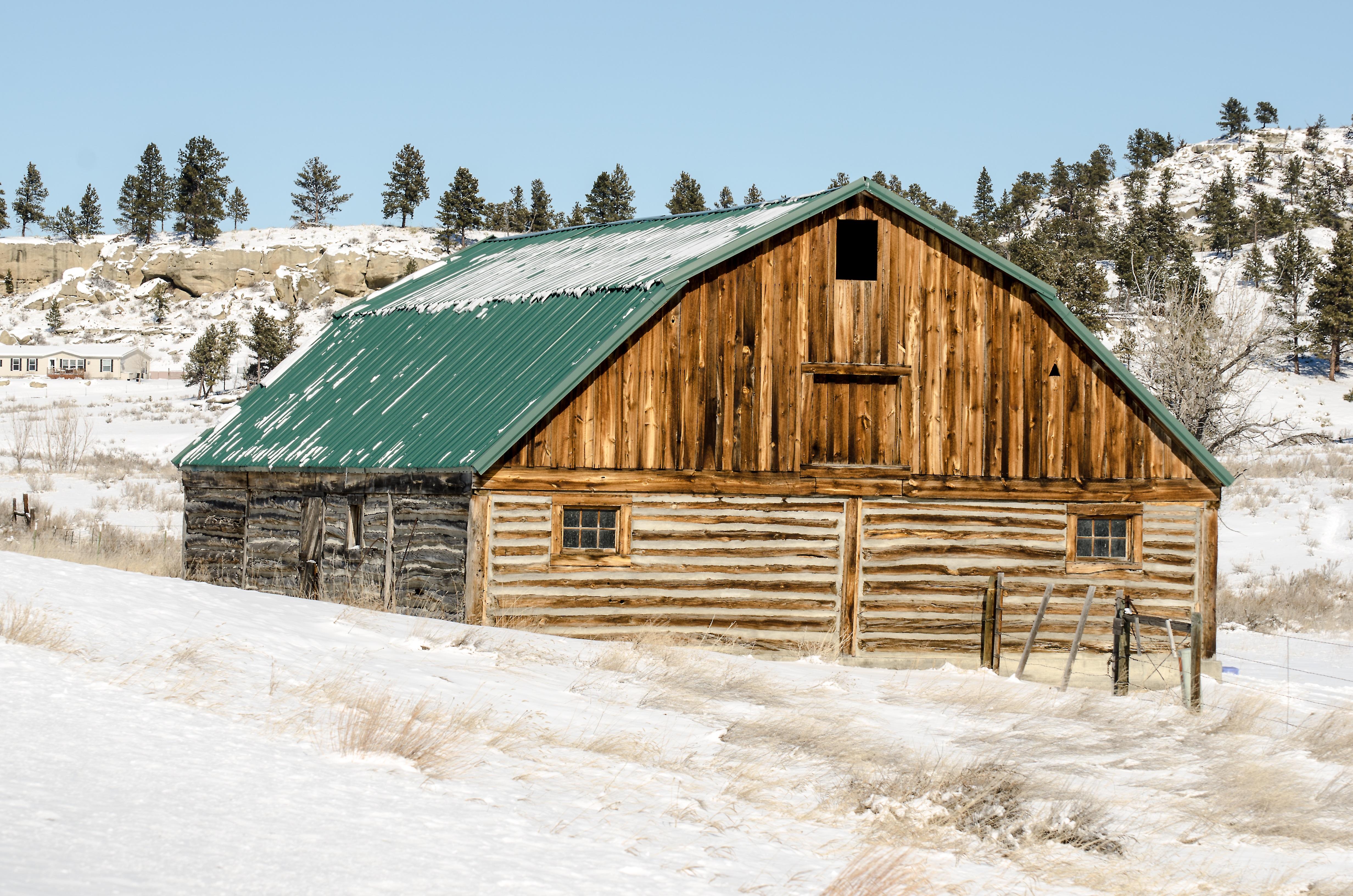 Free Images Landscape Snow Winter Architecture Farm