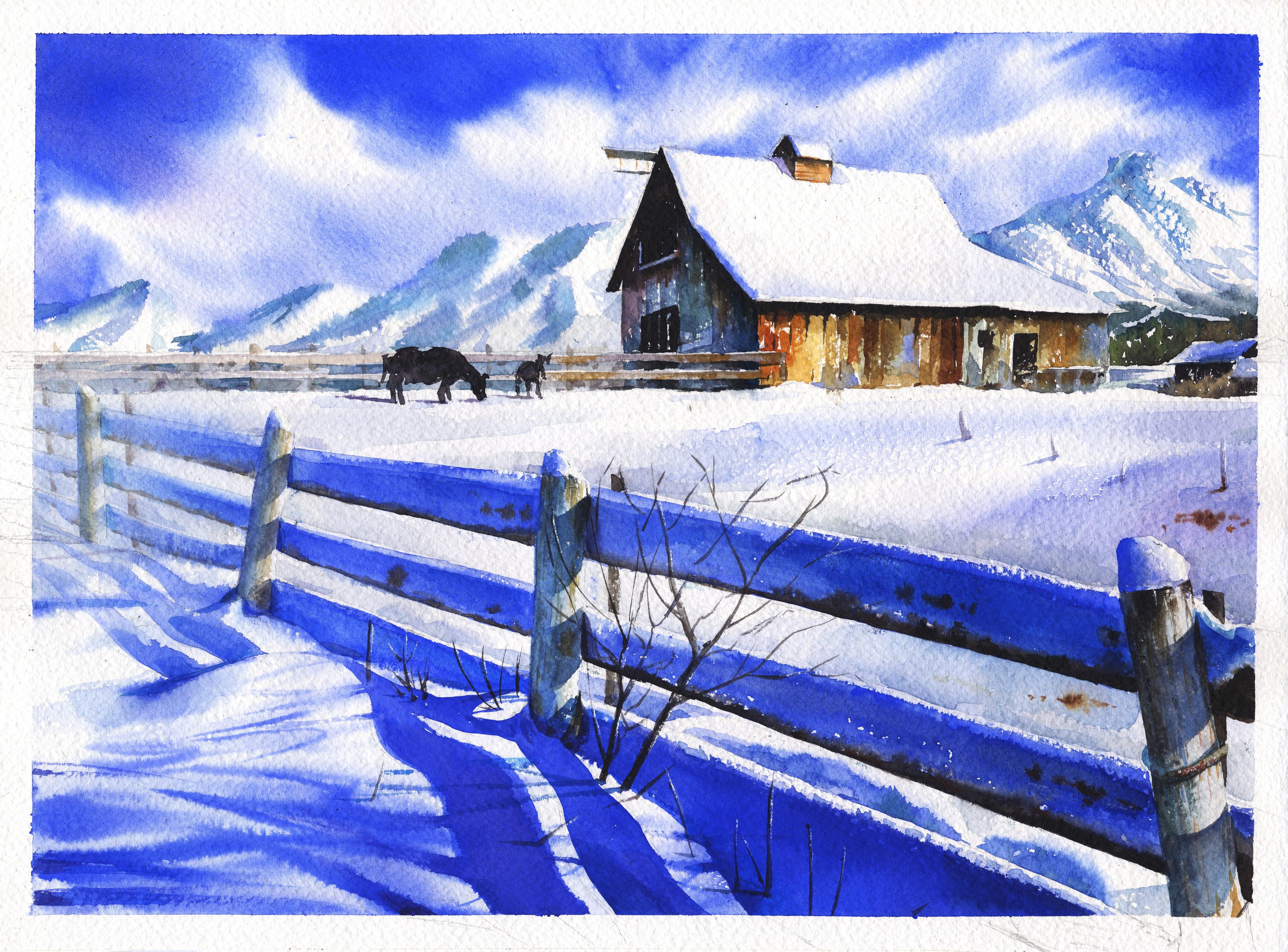 Fotos Gratis Nieve Madera Pintar Azul Pintura Art Figura
