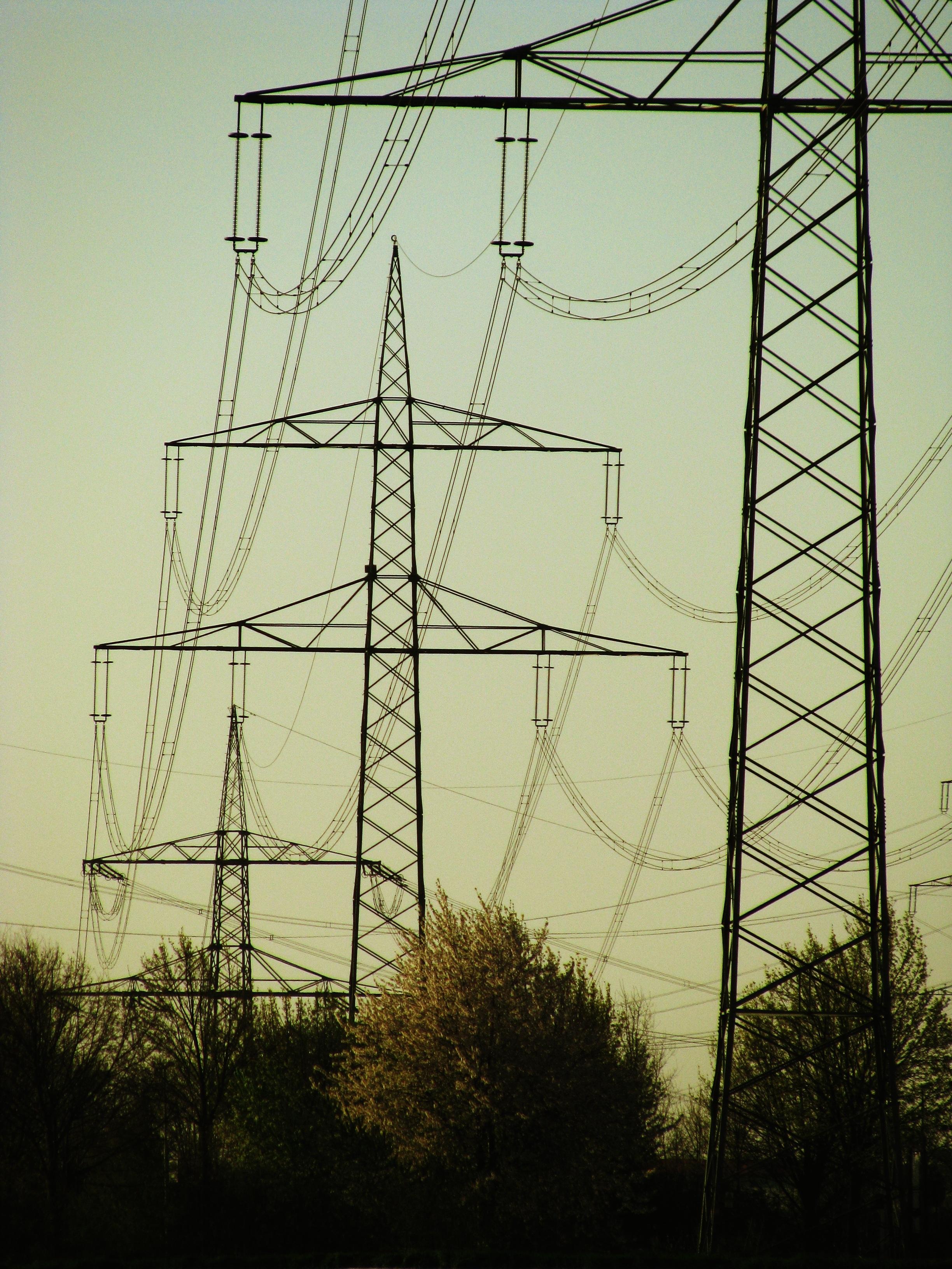 Fotos gratis : paisaje, tecnología, noche, línea, torre, Línea ...
