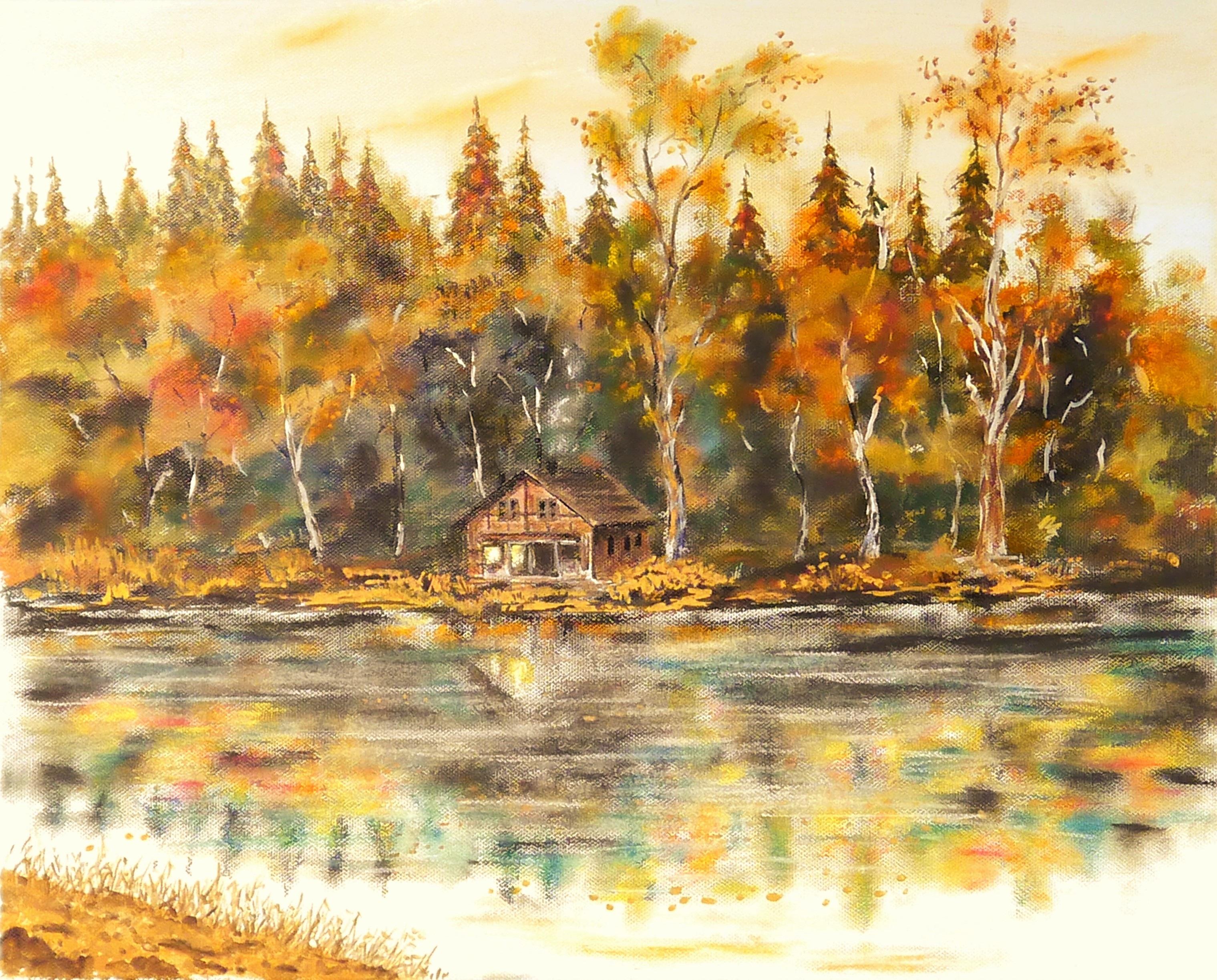 Fotos gratis : paisaje, árbol, flor, lago, casa, reflexión, color ...