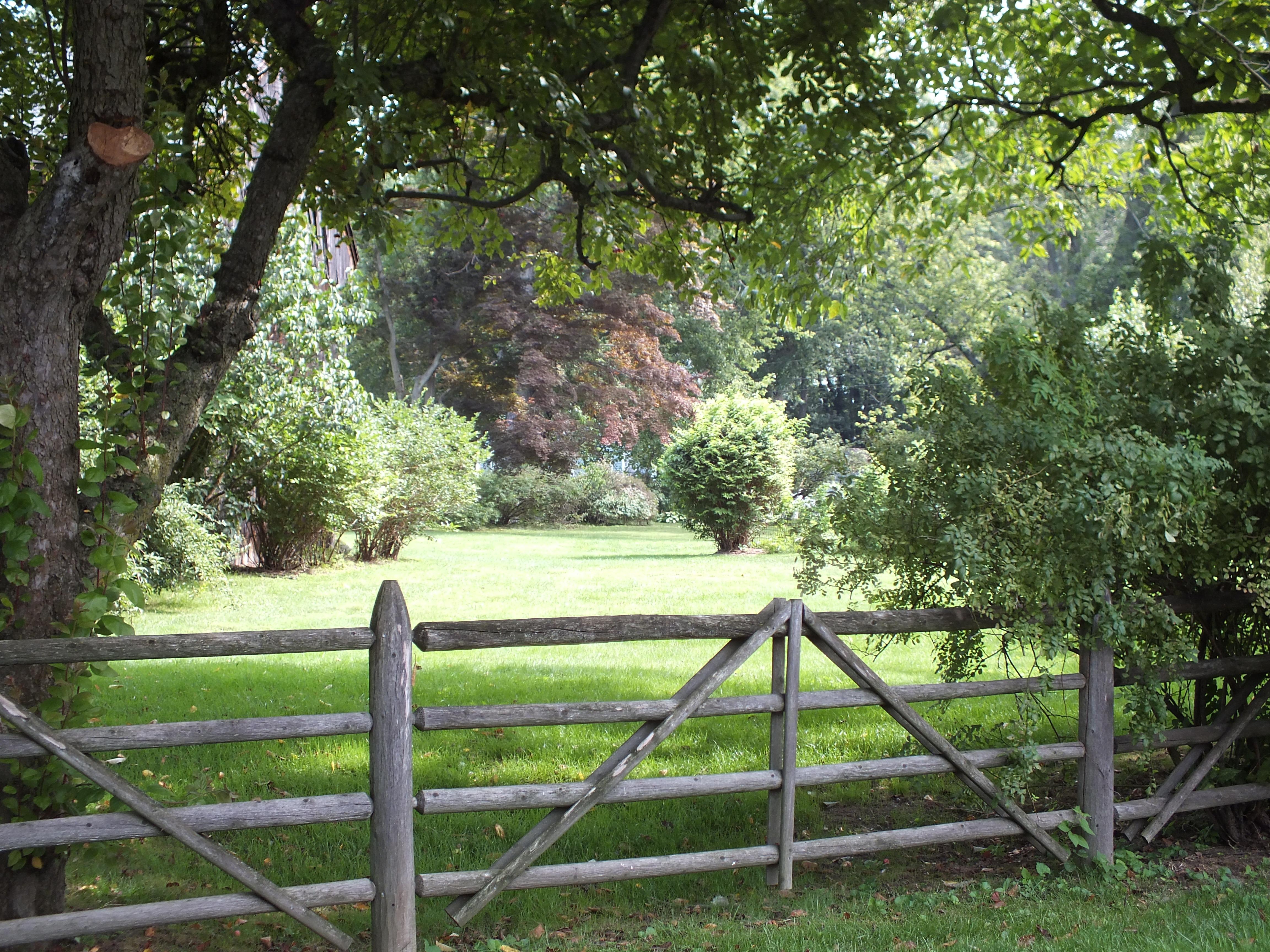 Images gratuites paysage arbre herbe champ ferme pelouse prairie feuille fleur vieux - Cloture de jardin rustique ...