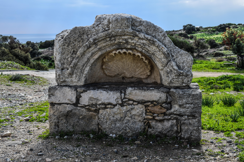 paisaje rbol csped rock piedra monumento antiguo histrico restos fuente historia tallado sitio chipre