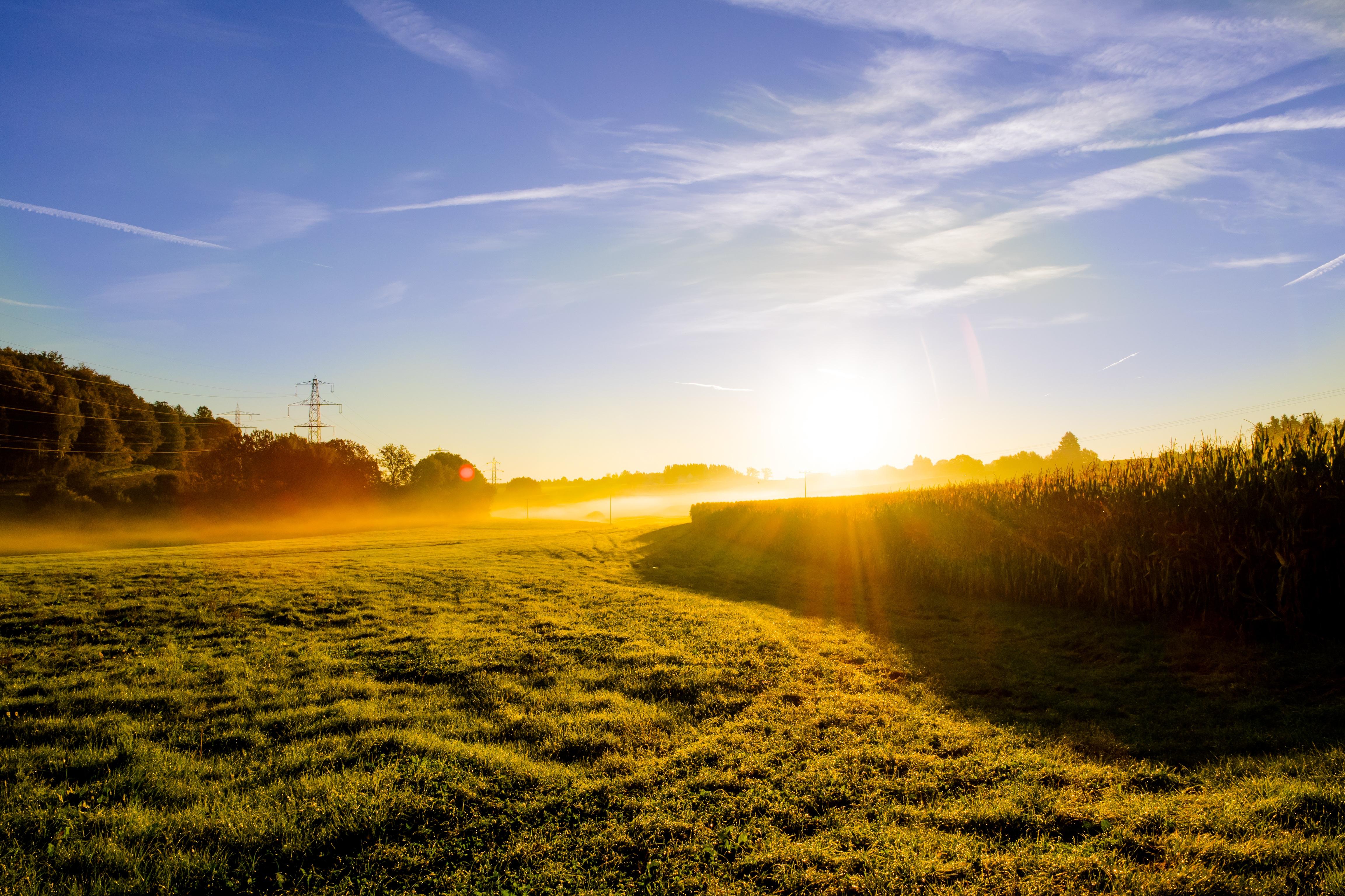 фонари фото утреннего солнца для научного мира
