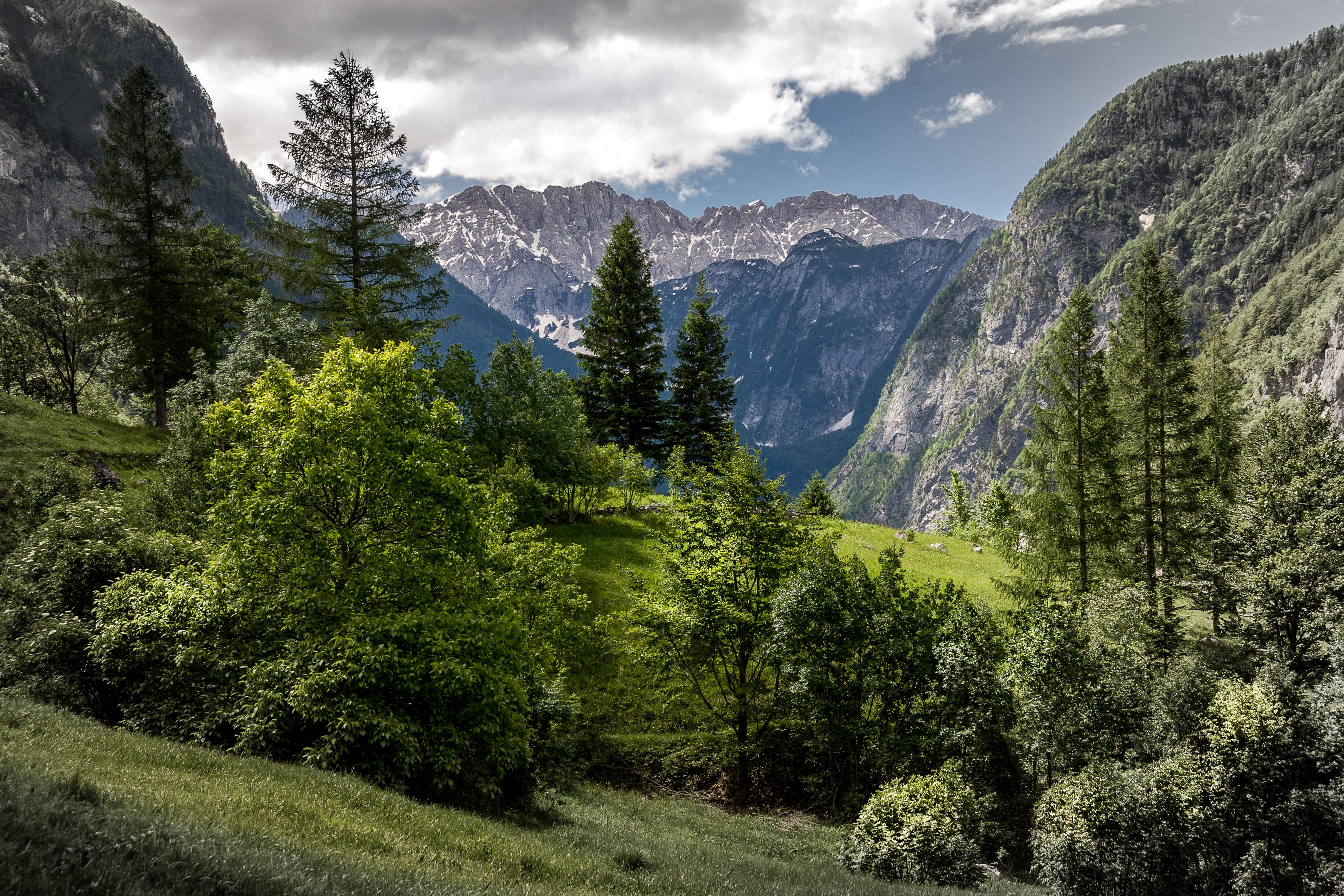фото горная долина природа спальни чердаке