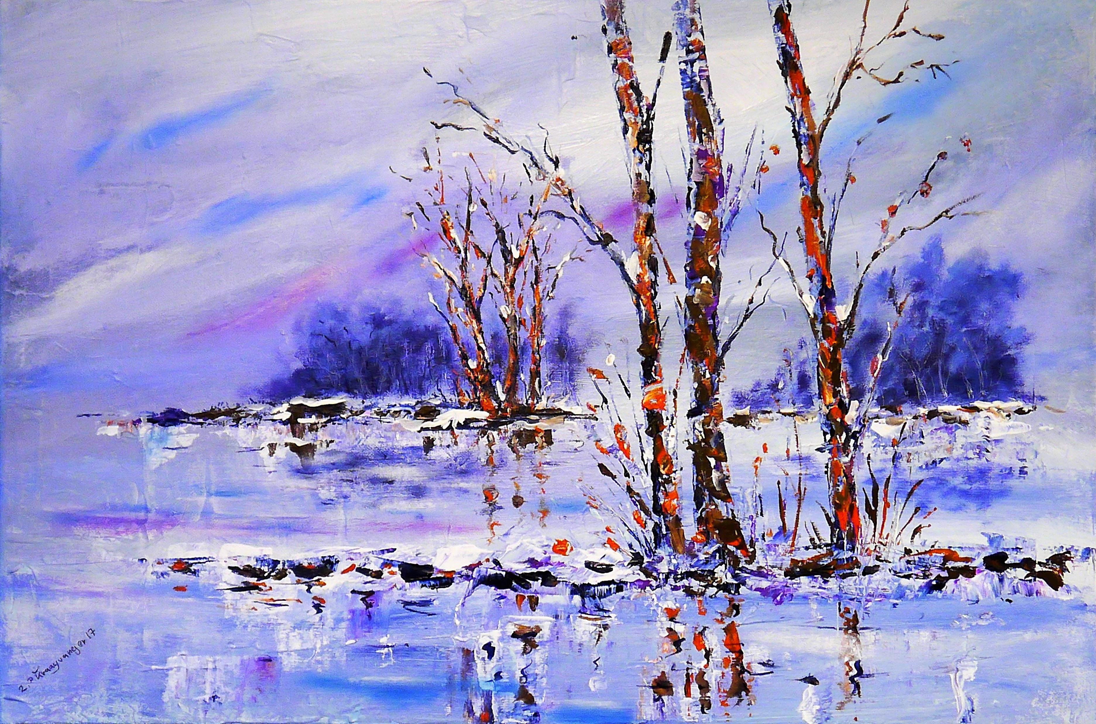 Fotoğraf Peyzaj Ağaç Kar Kış çiçek Buz Yansıma Huş Ağacı
