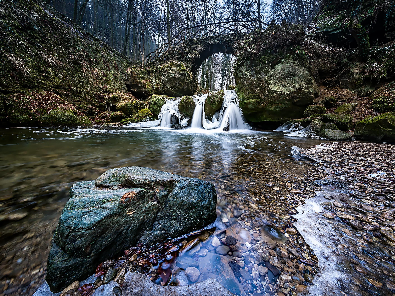 waterfall nature water stream landscape river winter rock autumn luxembourg tree frozen body wilderness rapid frost mpel watercourse cold shoot