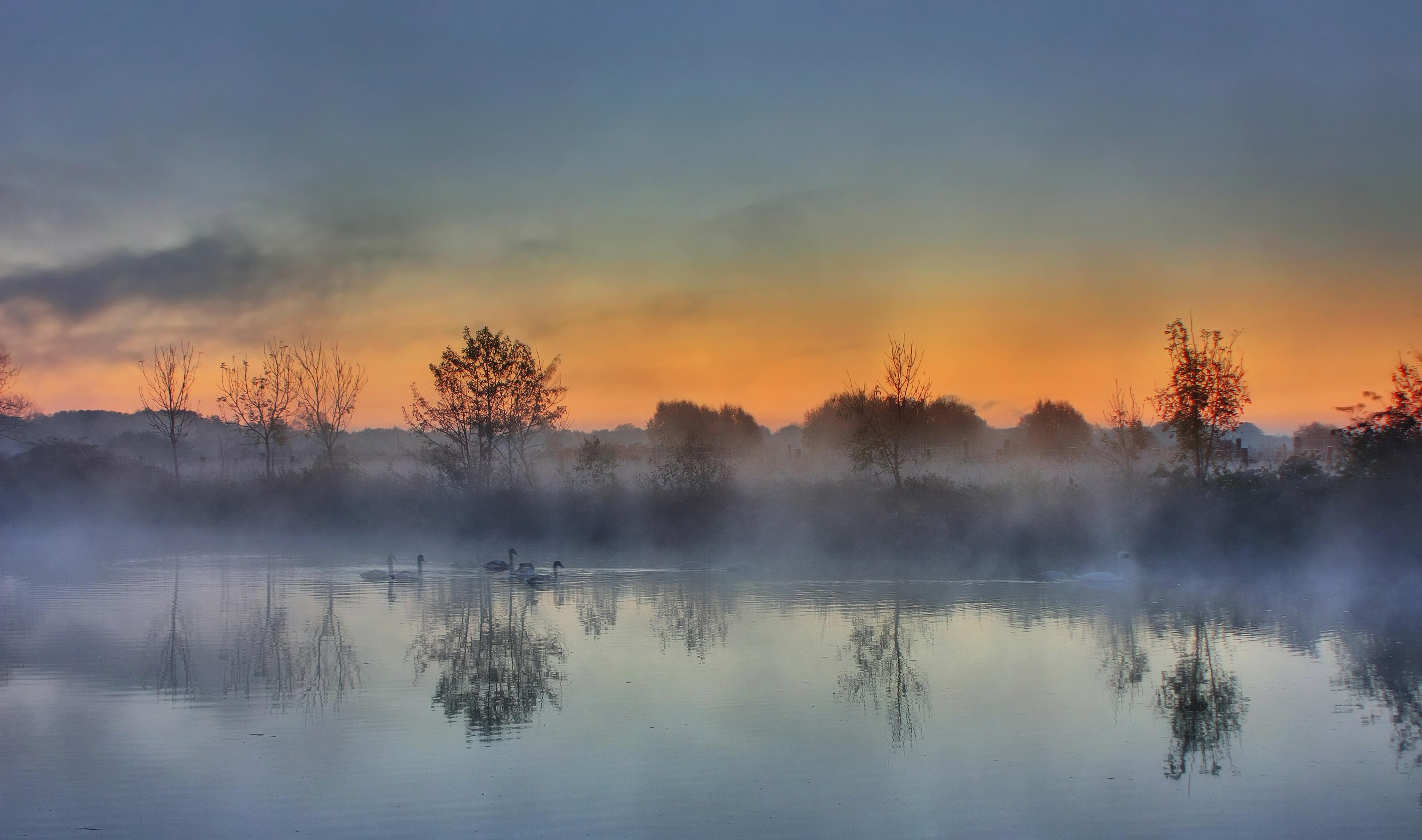 Осень прозрачное утро небо как будто в тумане слушать