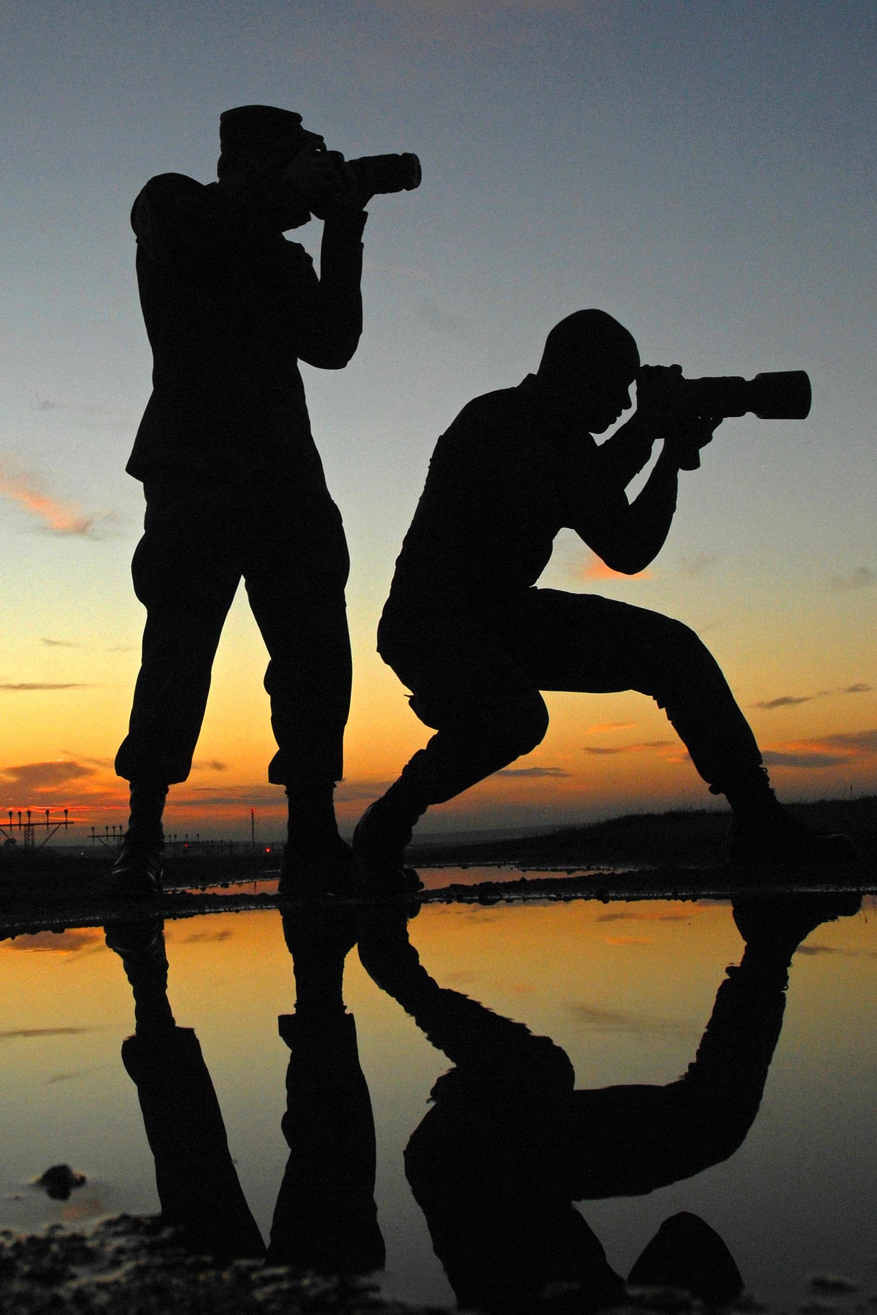 Как на фотографиях сделать силуэты