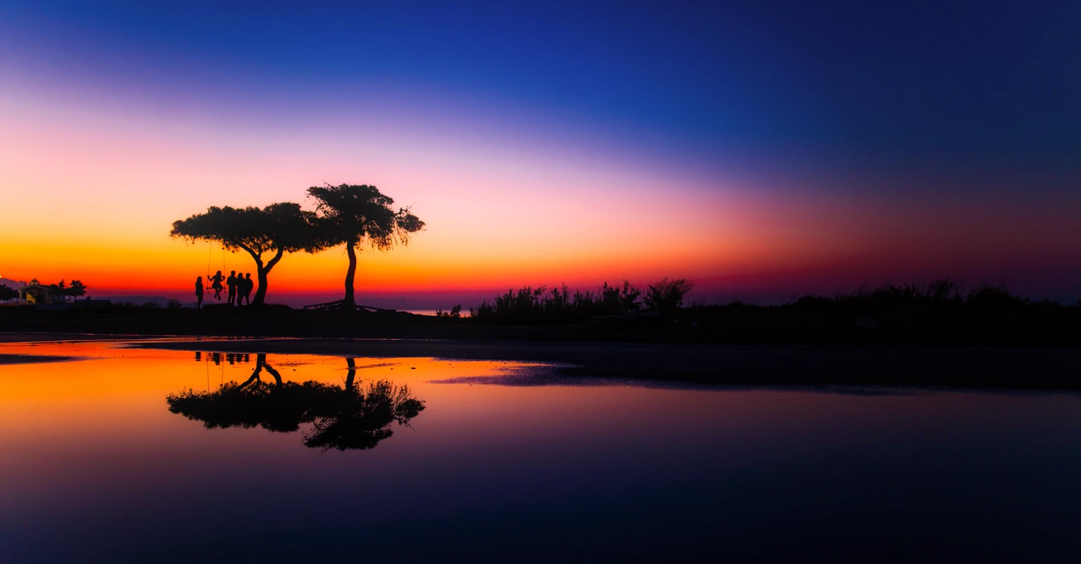 Gambar Pemandangan Air Alam Horison Matahari Terbit