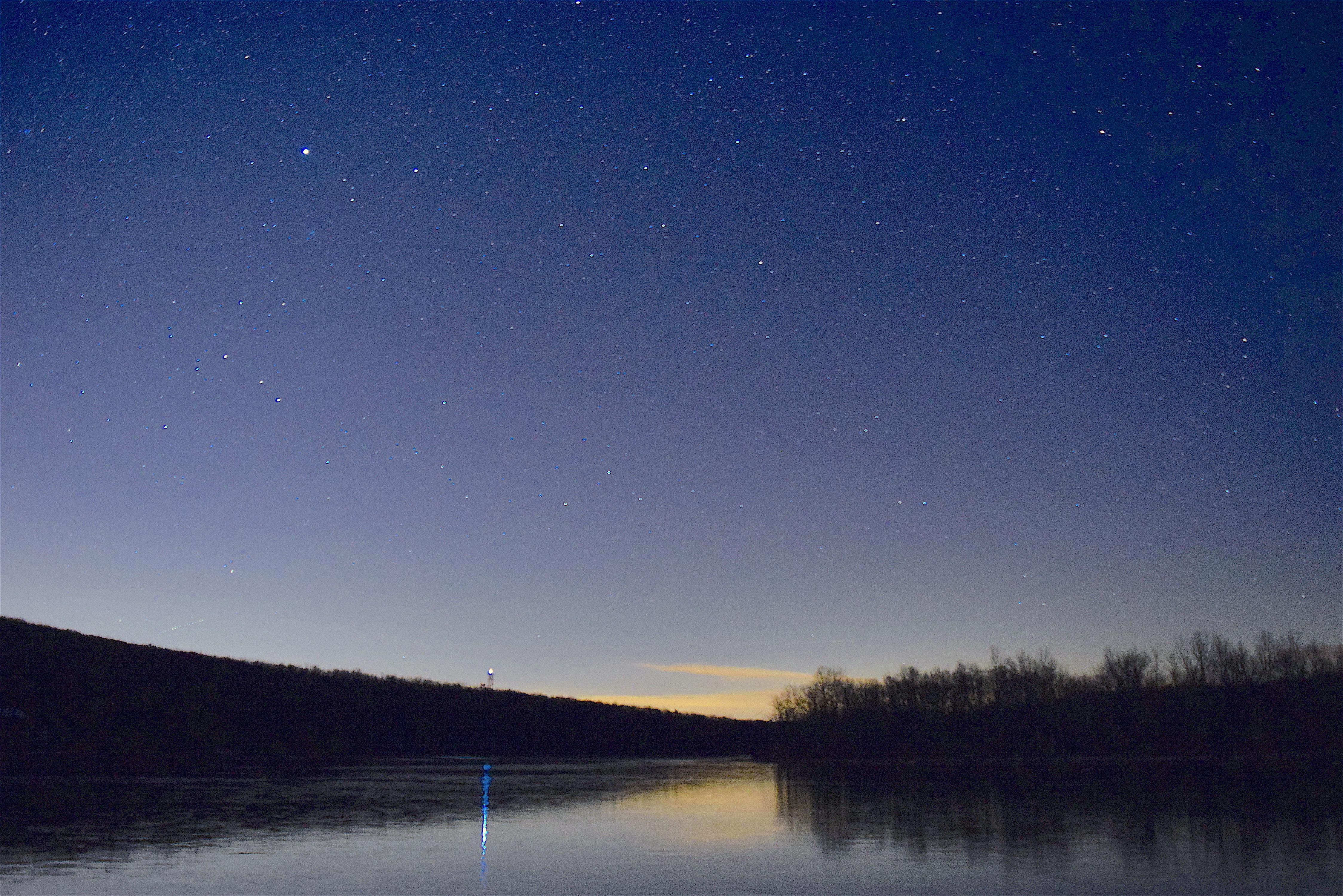 Gambar Pemandangan Air Alam Outdoor Horison Langit Bintang