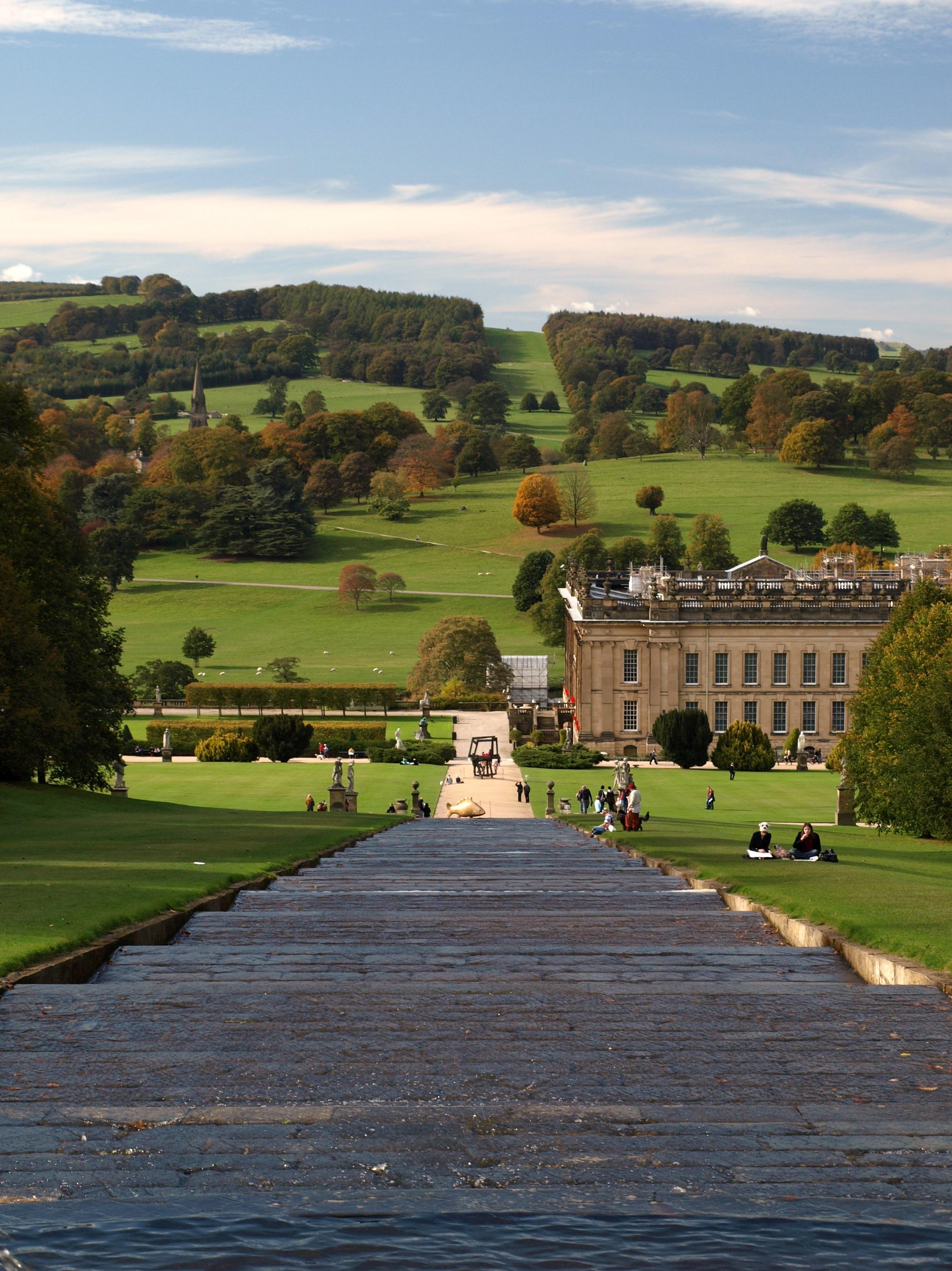 Chatsworth House Private Area: Fotos Gratis : Paisaje, Cascada, Arquitectura, Estructura