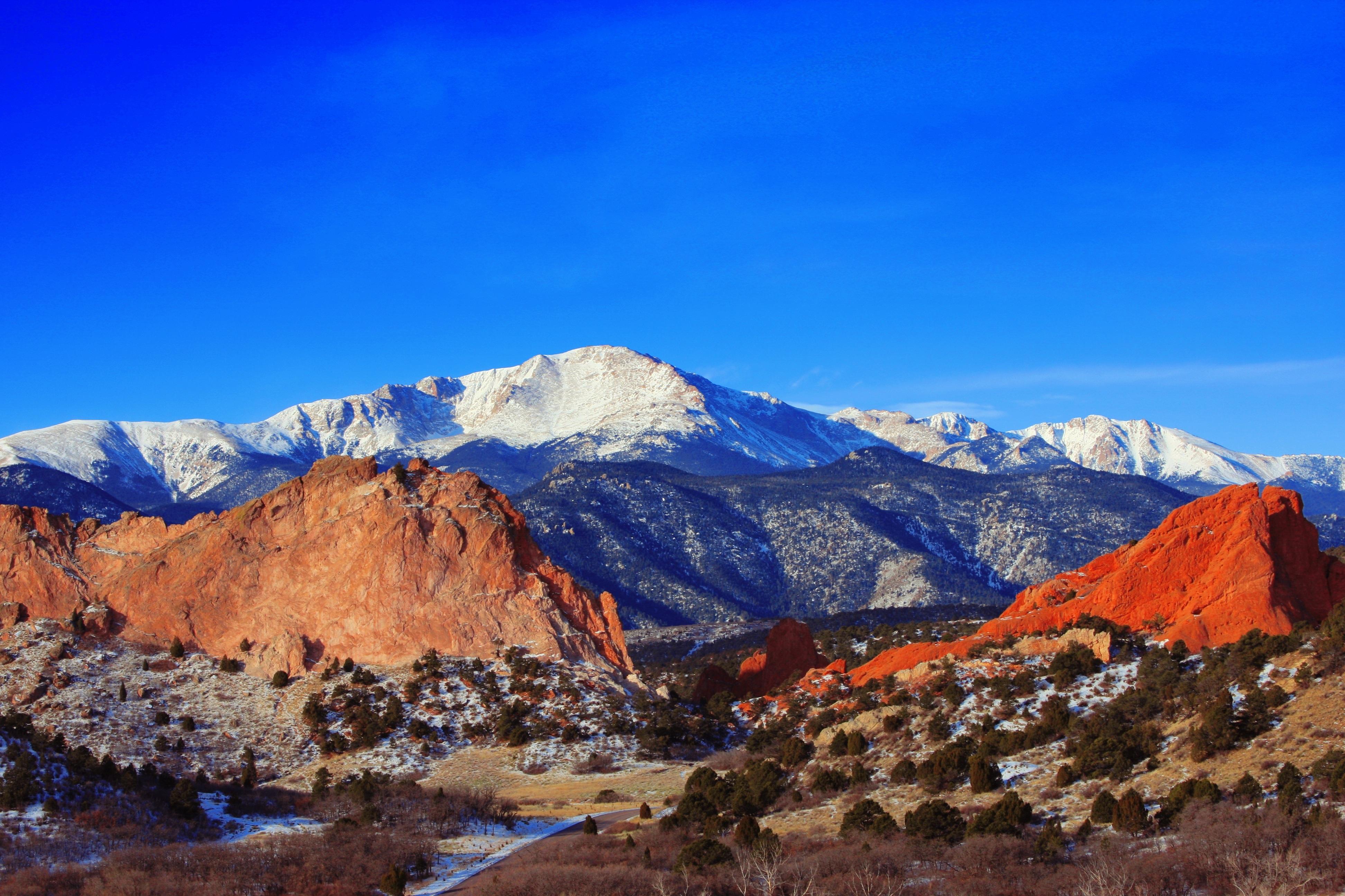 Free Images  landscape, wilderness, snow, sandstone, valley