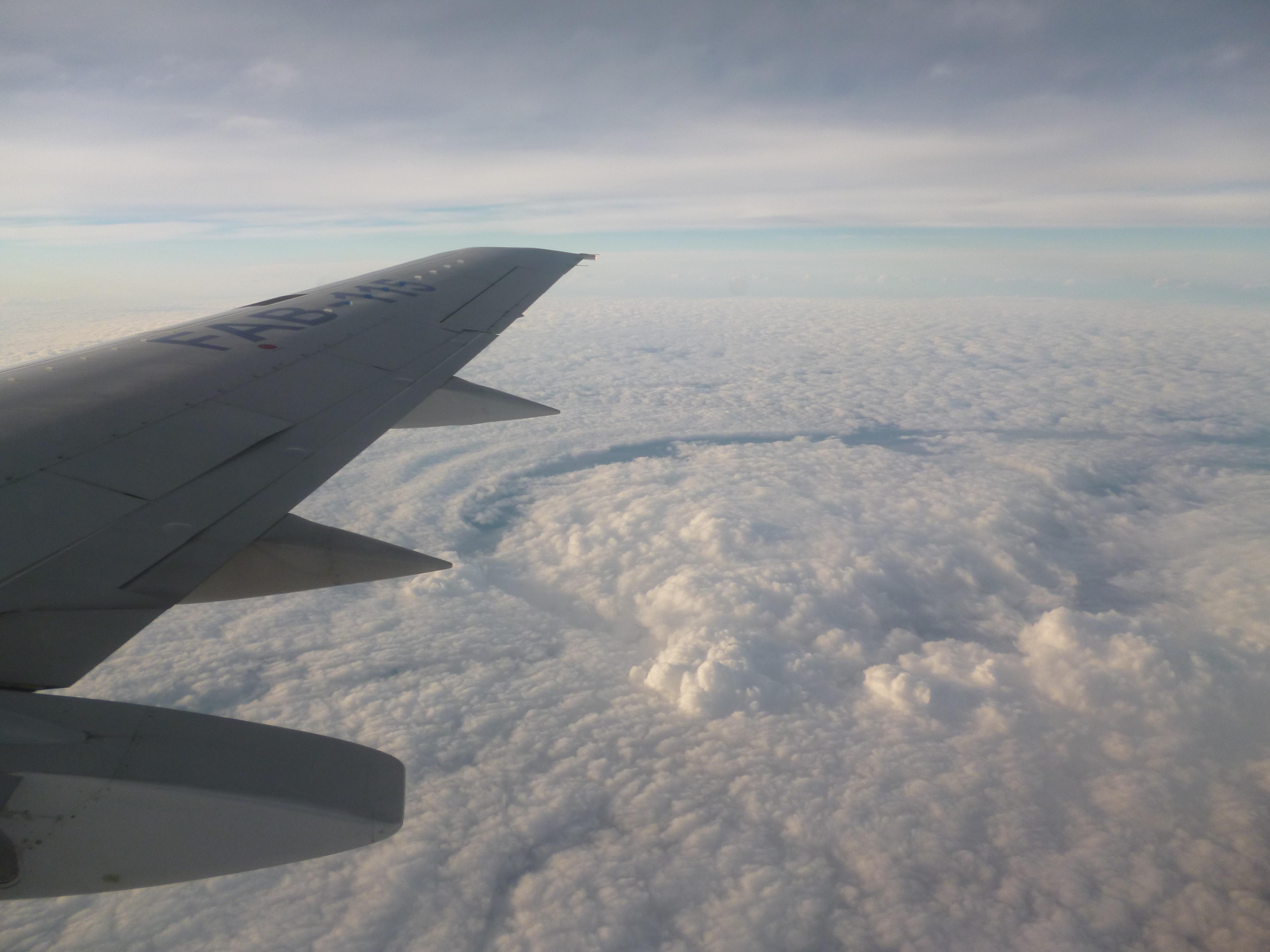 Gambar Pemandangan Sayap Awan Langit Pesawat Terbang