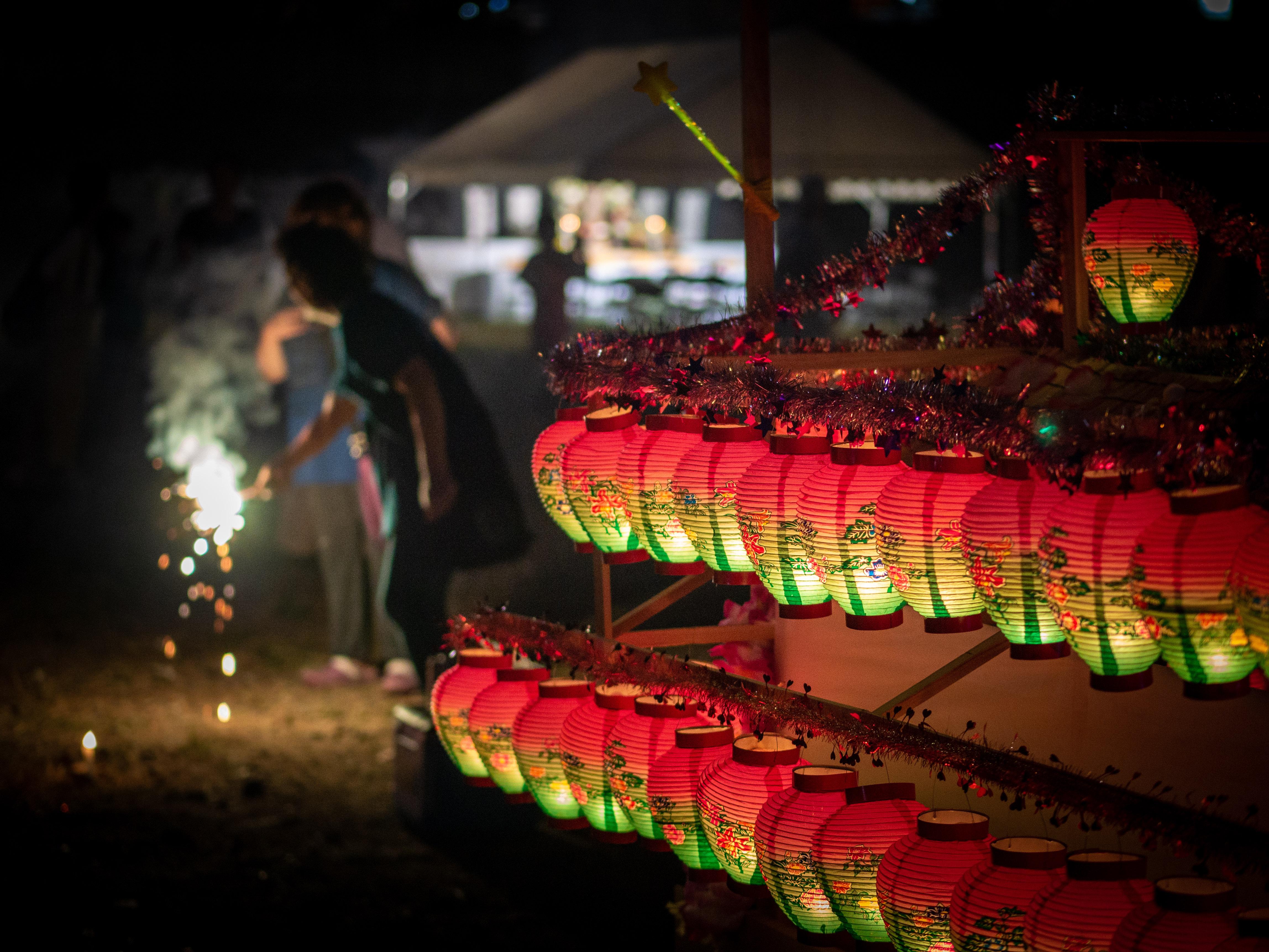 Đèn Lồng Nhật Bản Lễ Hội Lễ Linh Hồn Đêm Ánh Sáng Thắp Sáng Truyền Thống