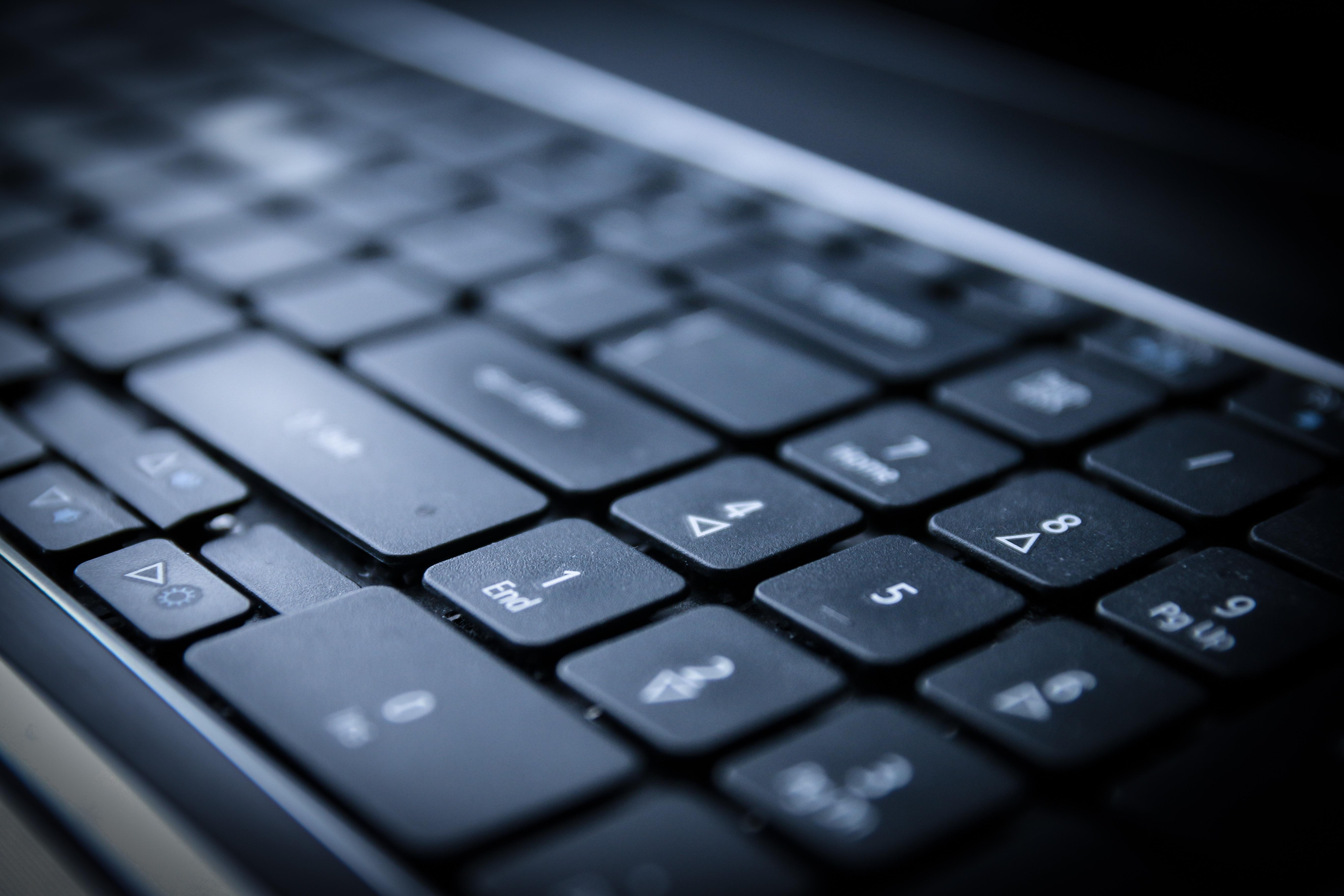 крупным планом клавиатура английский русский