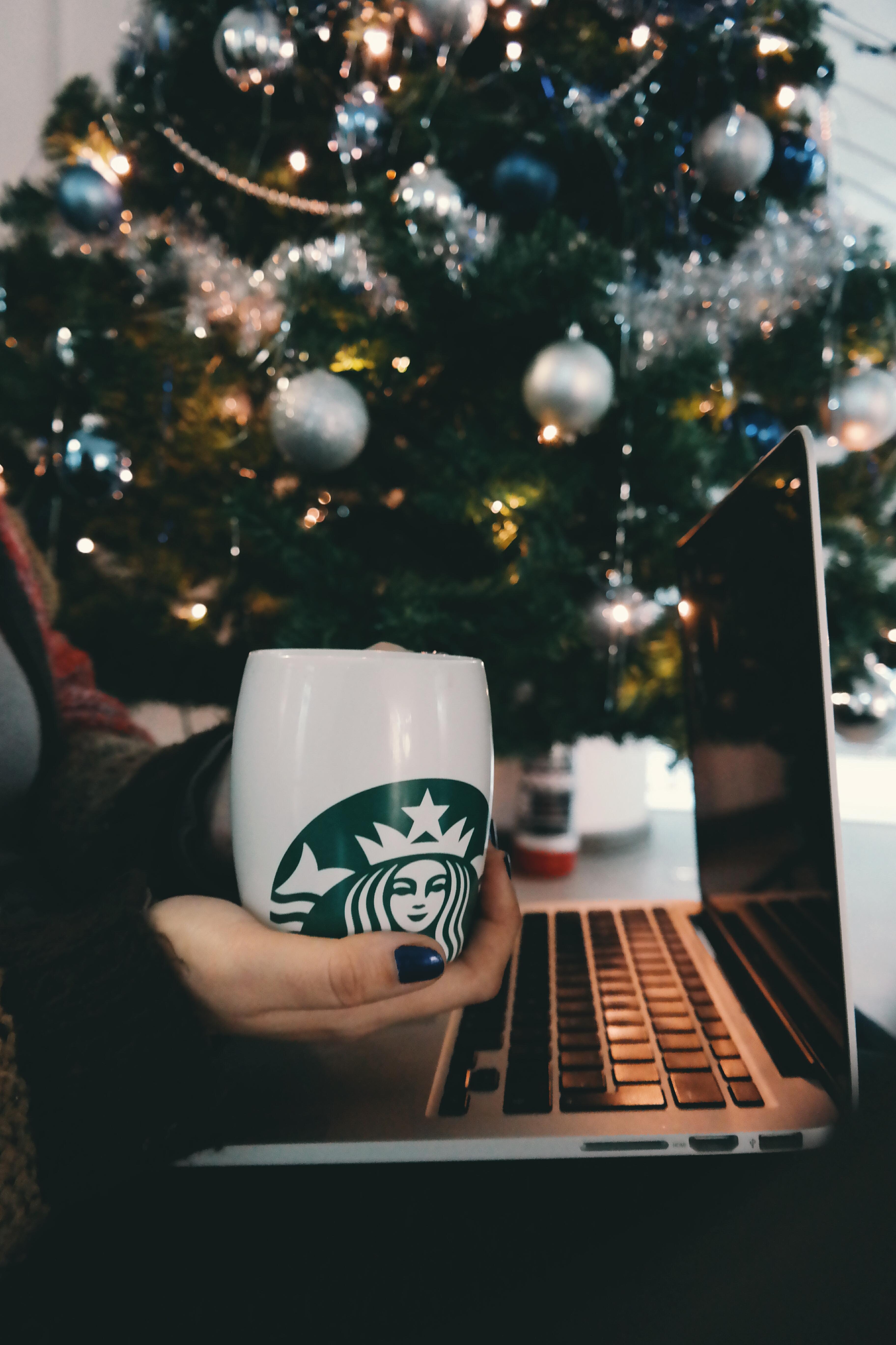 Coffee Christmas Tree.Free Images Laptop Computer Macbook Hand Coffee