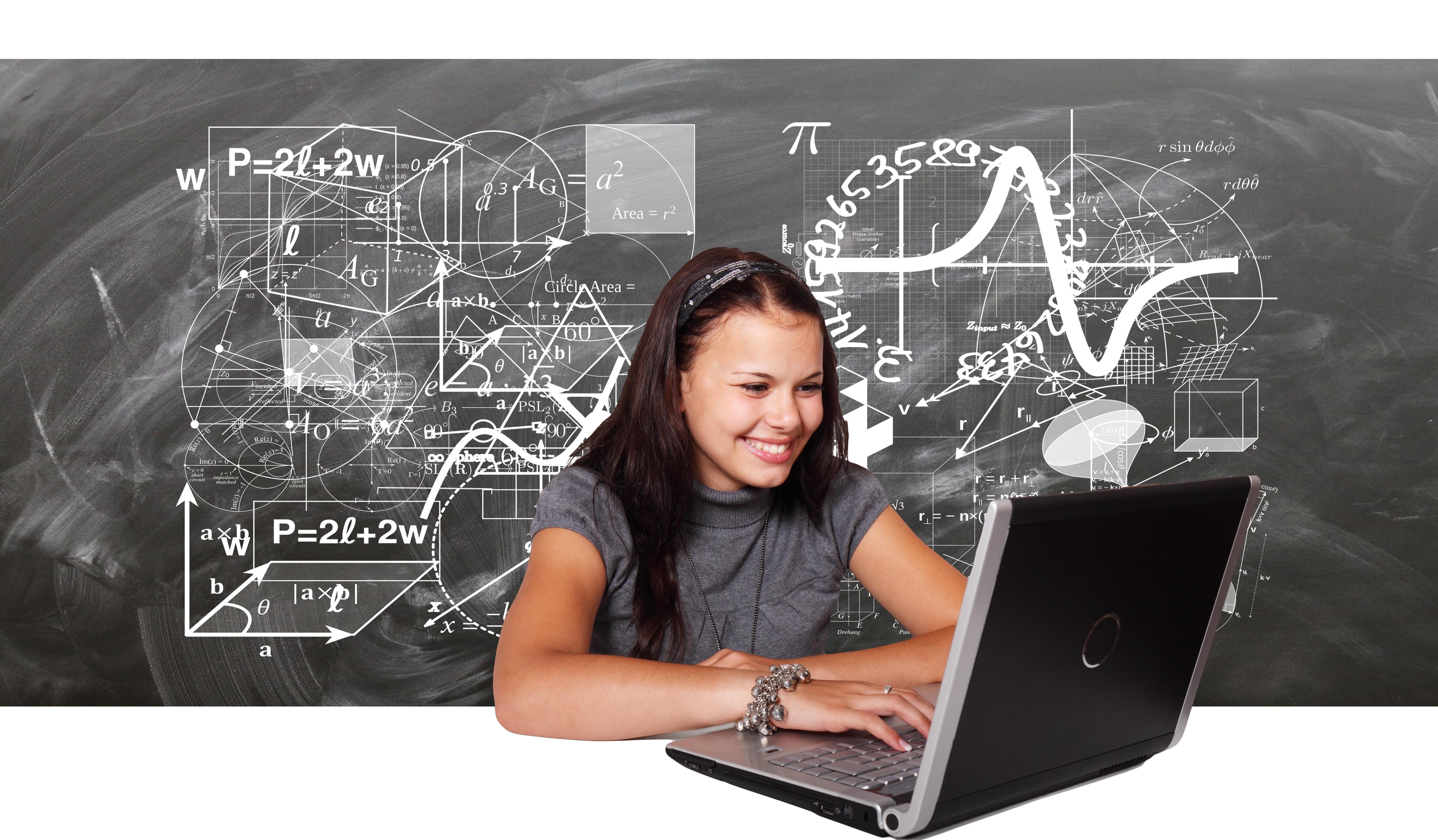 Kostenlose foto : Laptop, Computer, Schreiben, Tafel, Mädchen ...
