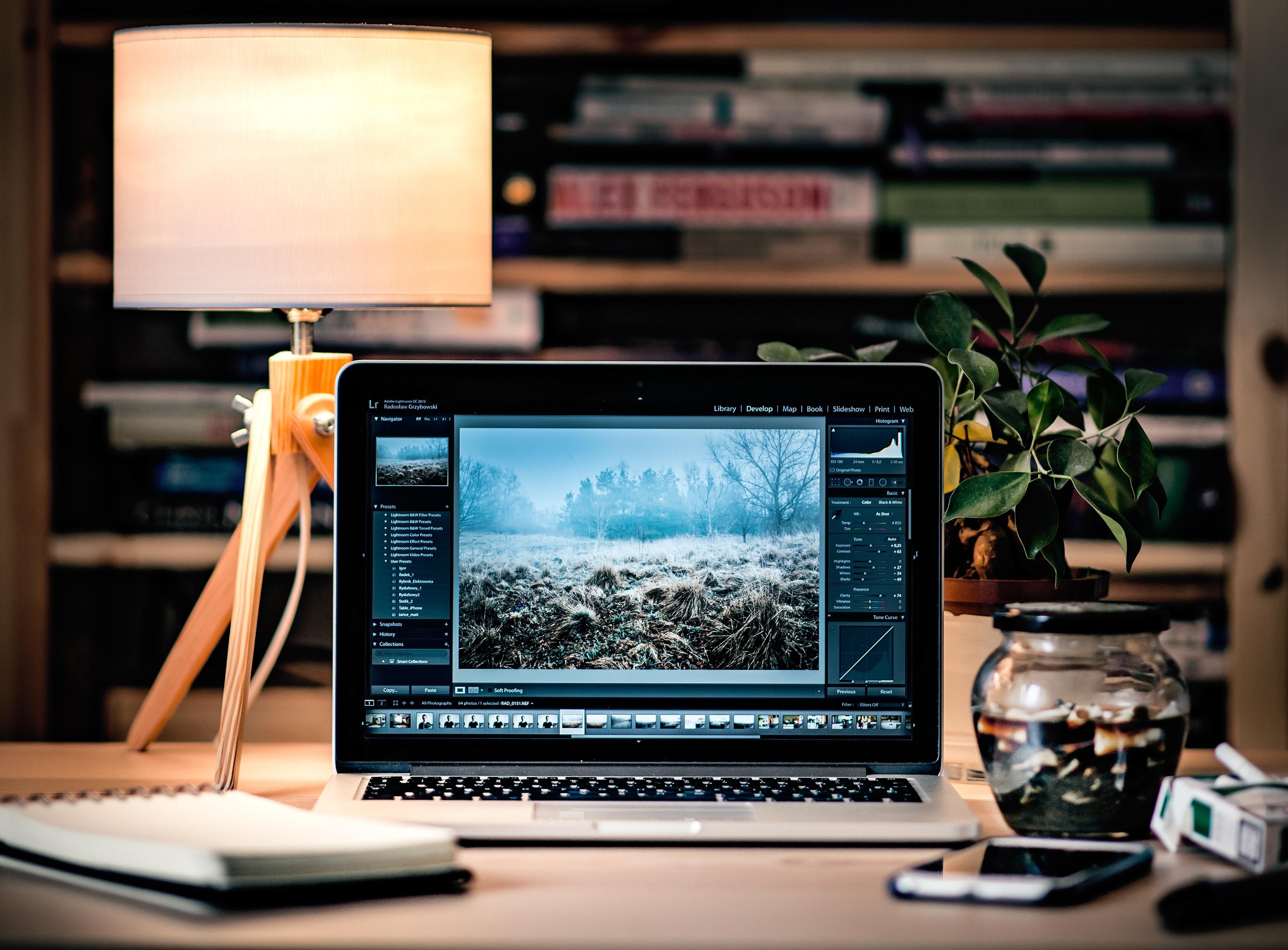 Free images laptop desk work technology home living - Free room design website ...