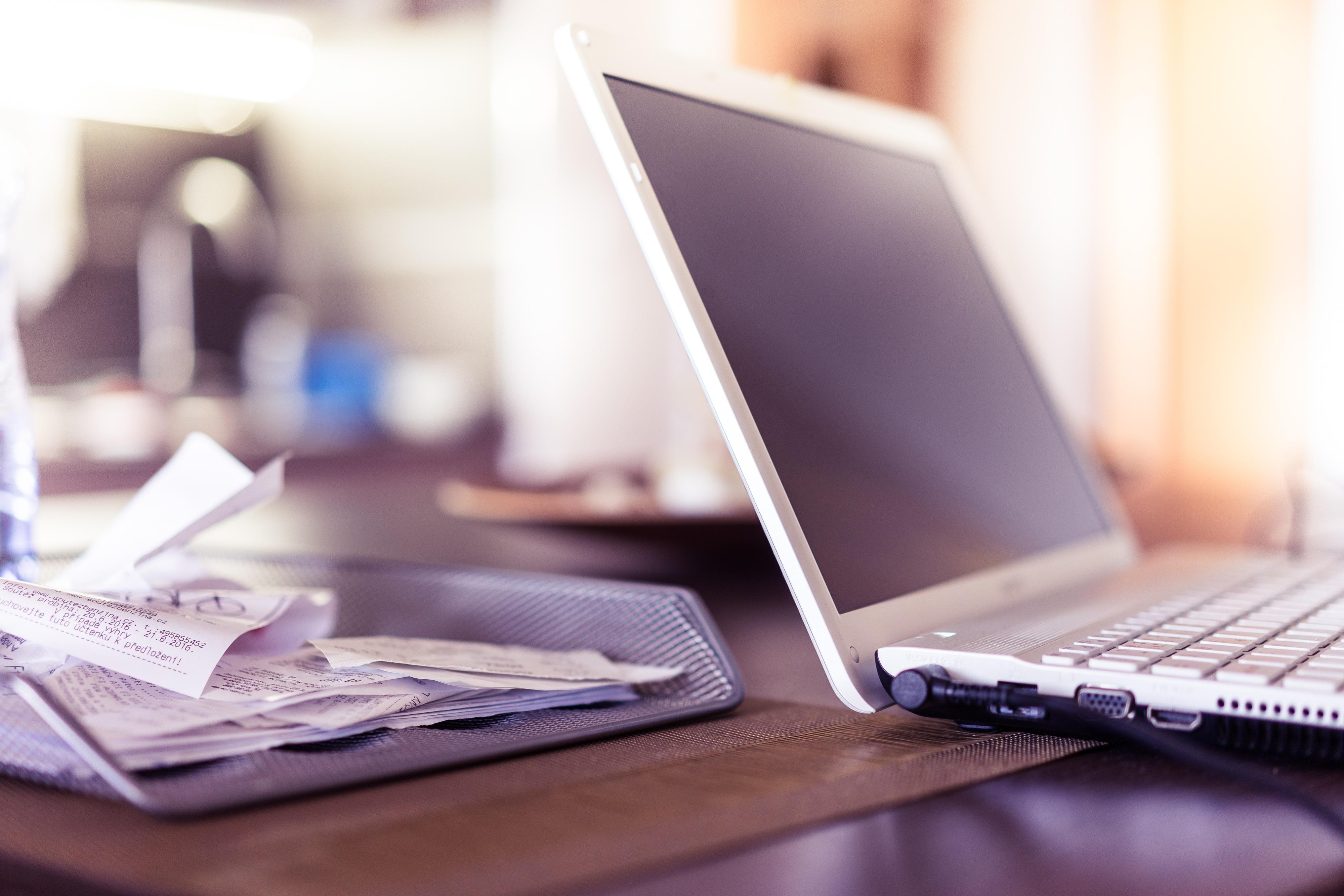 Free Images : laptop, desk, writing, keyboard, technology ...