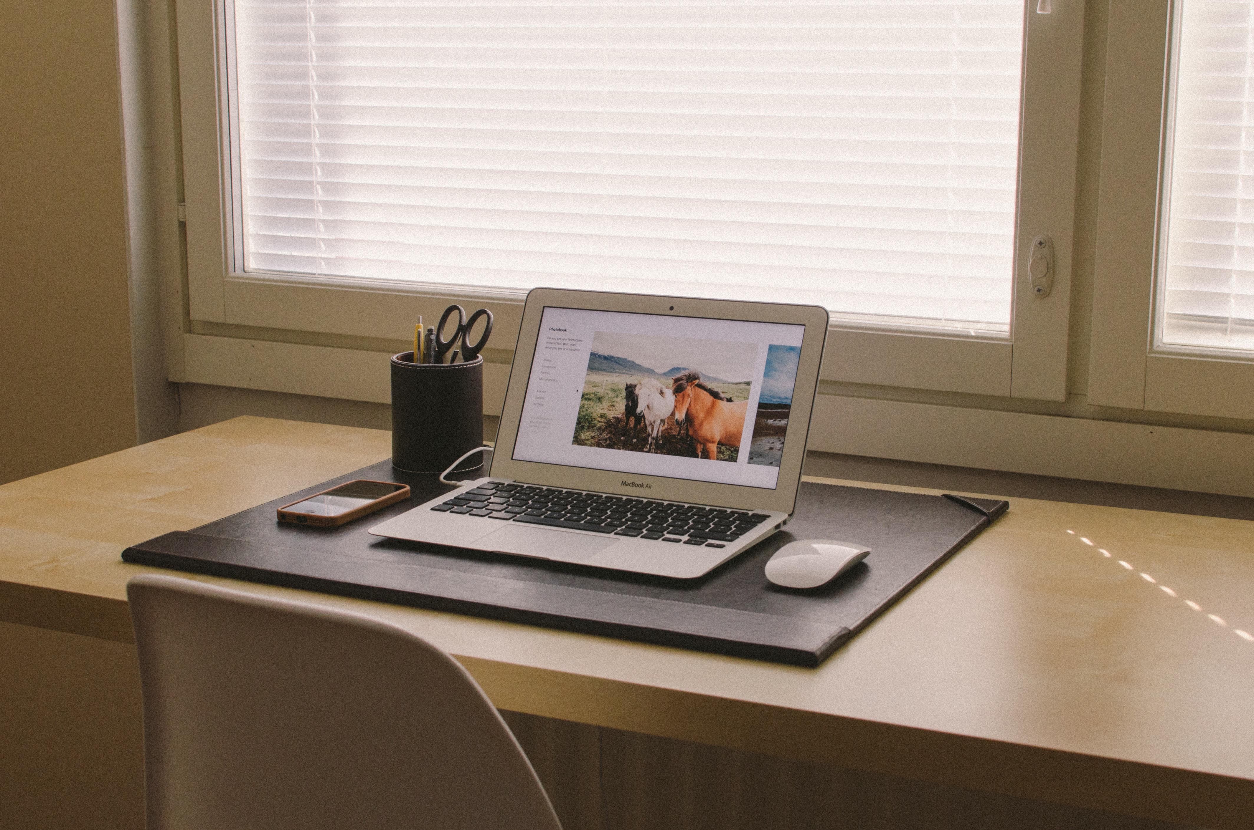 Free Images : laptop, desk, macbook, apple, table, floor, home ...