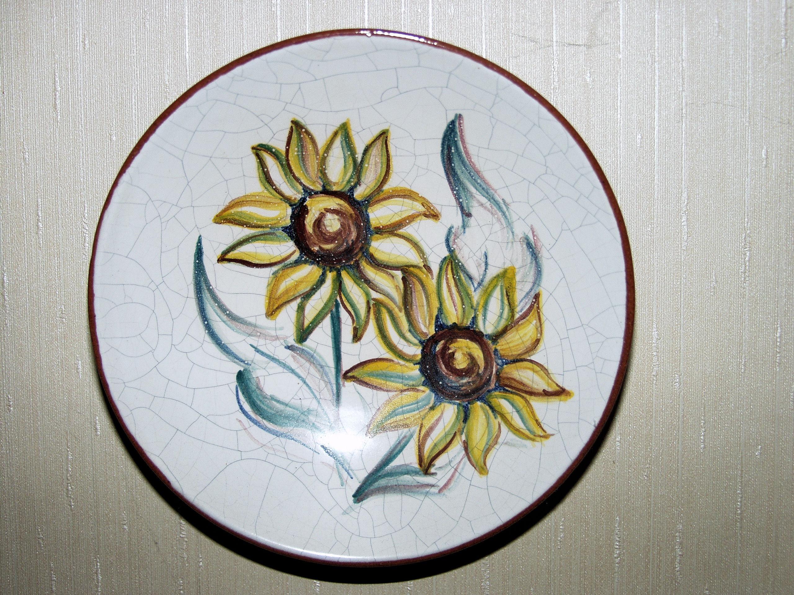 Gambar Daun Bunga Kaca Dekorasi Keramik Piring Warna