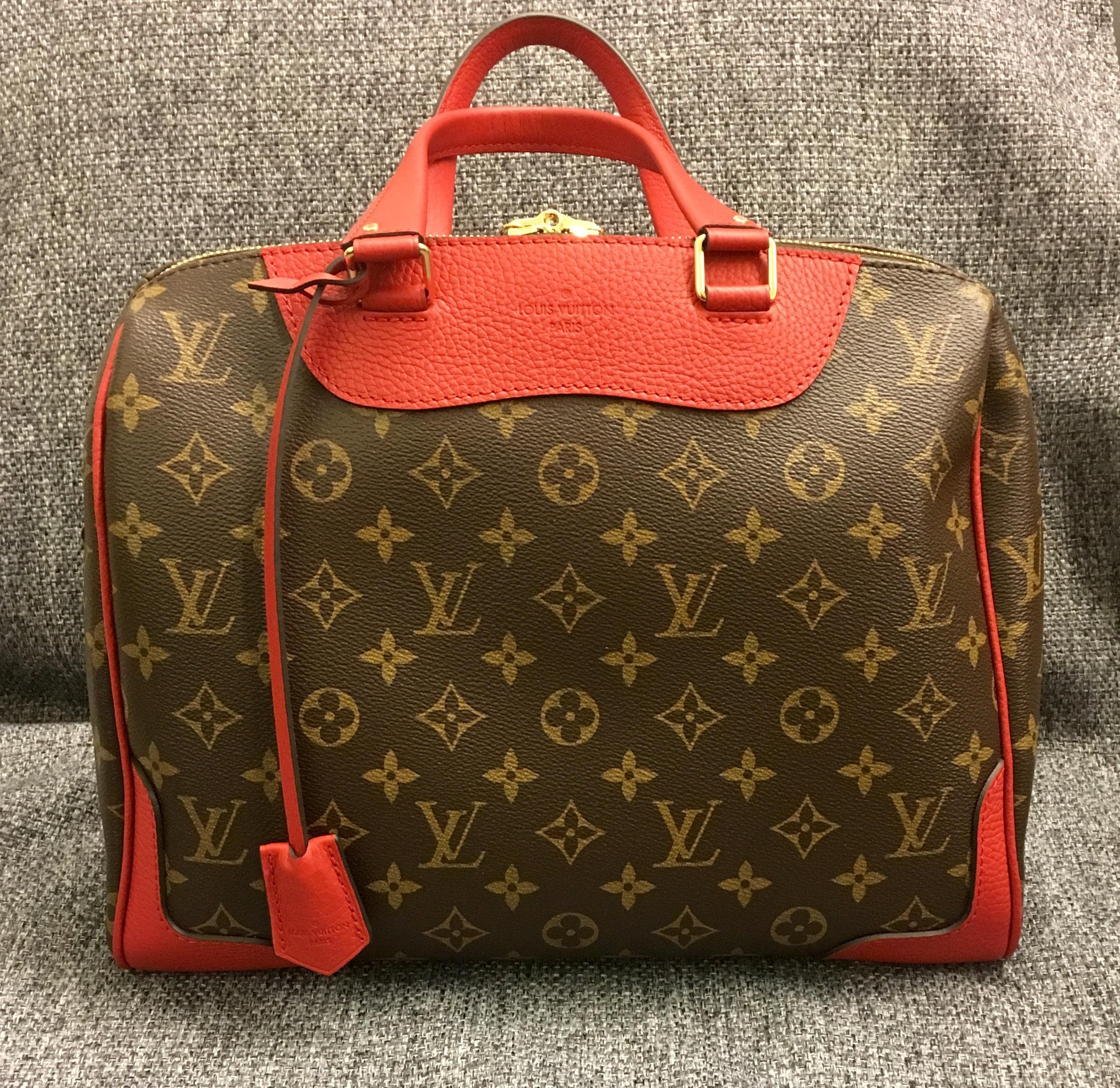 Free leather pattern red handbag brand baggage