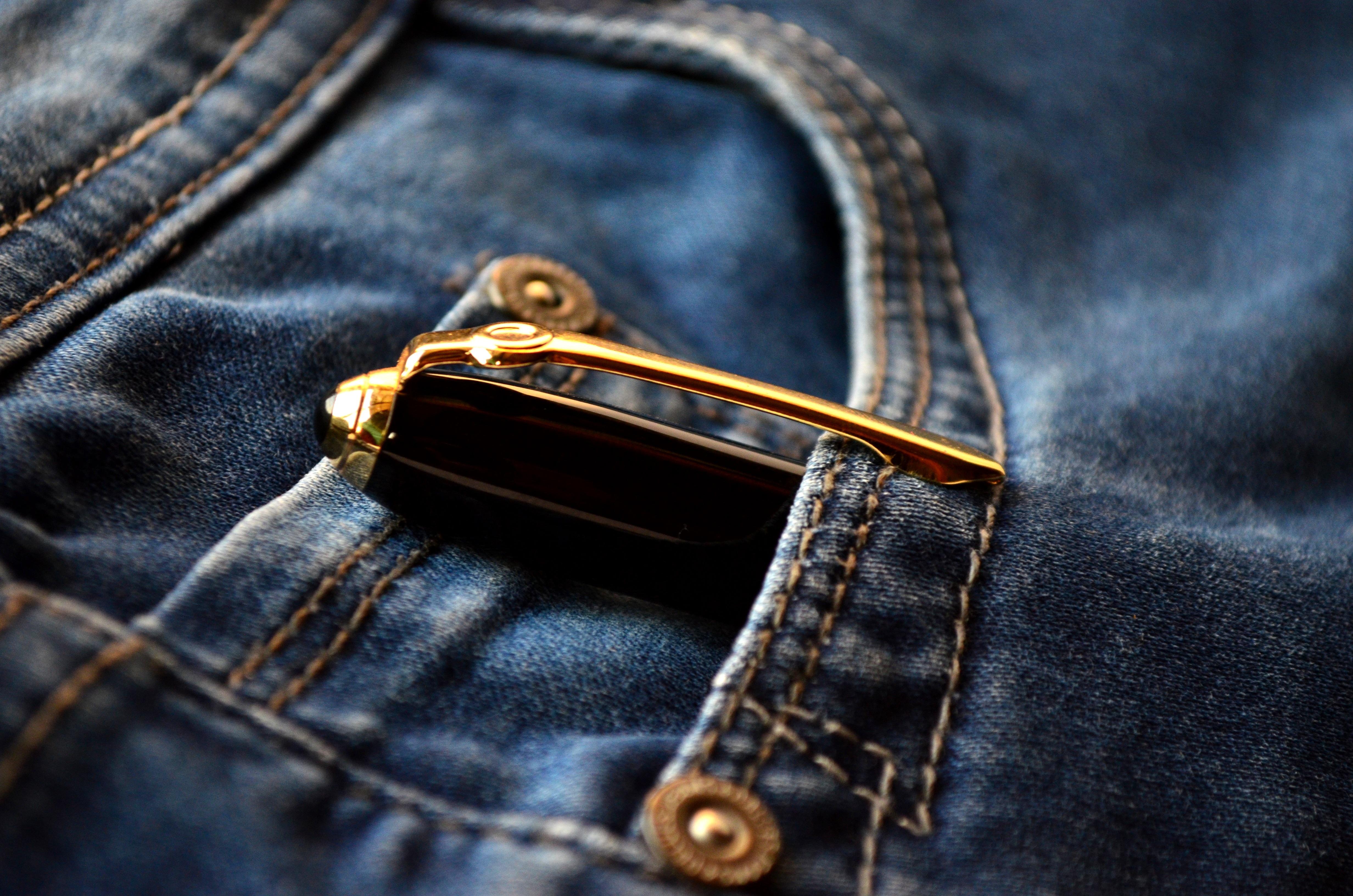 Gratis Afbeeldingen Leer Pen Jeans Zak Mode Blauw Materiaal Denim Handtas Kledingstuk