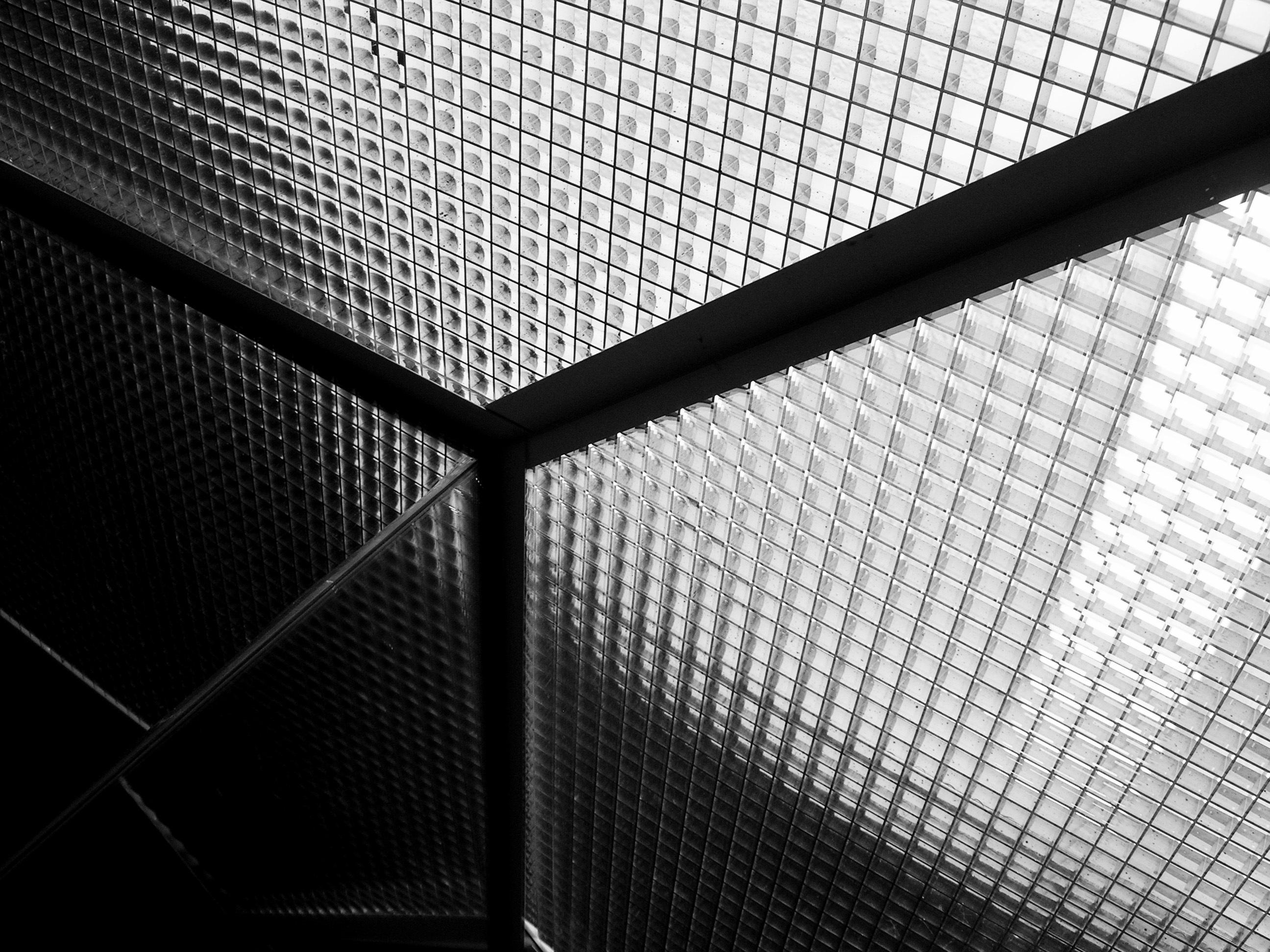 Gambar Cahaya Abstrak Hitam Dan Putih Perspektif Pola Garis
