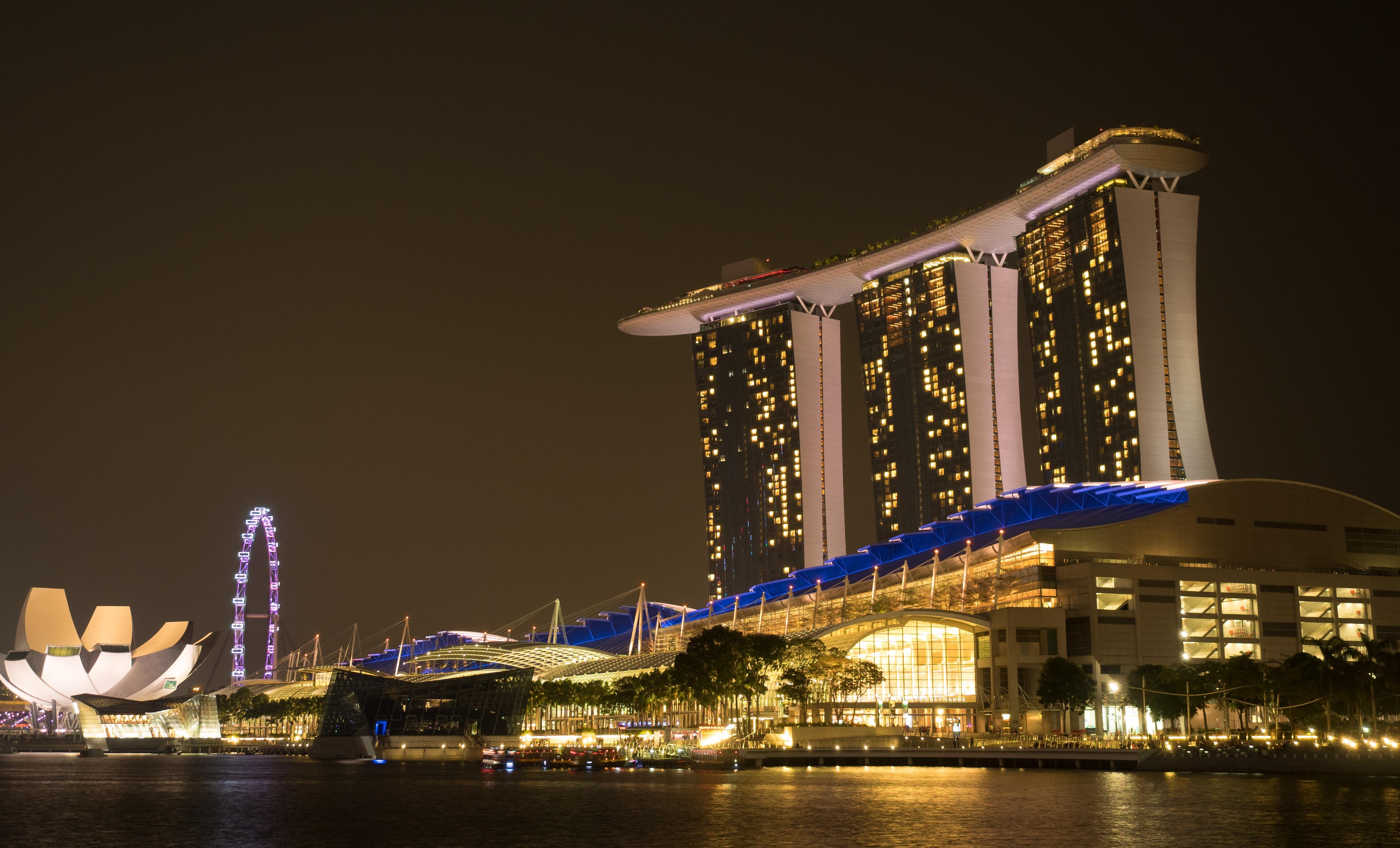 Free Images Light Architecture Bridge Skyline Night Building