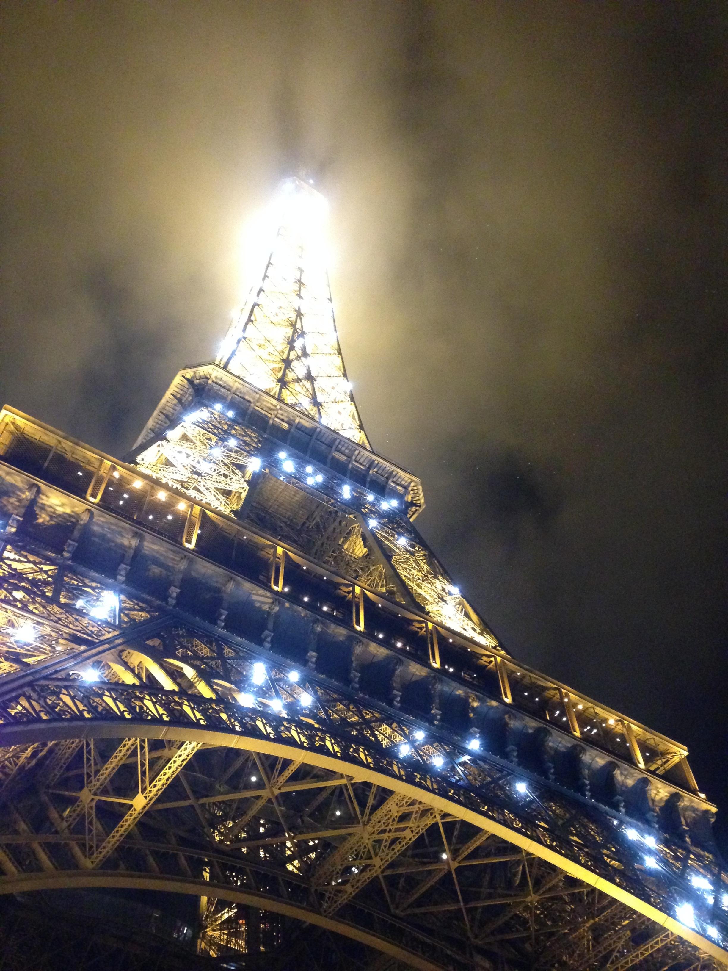 Фото эйфелевой башни в париже ночью