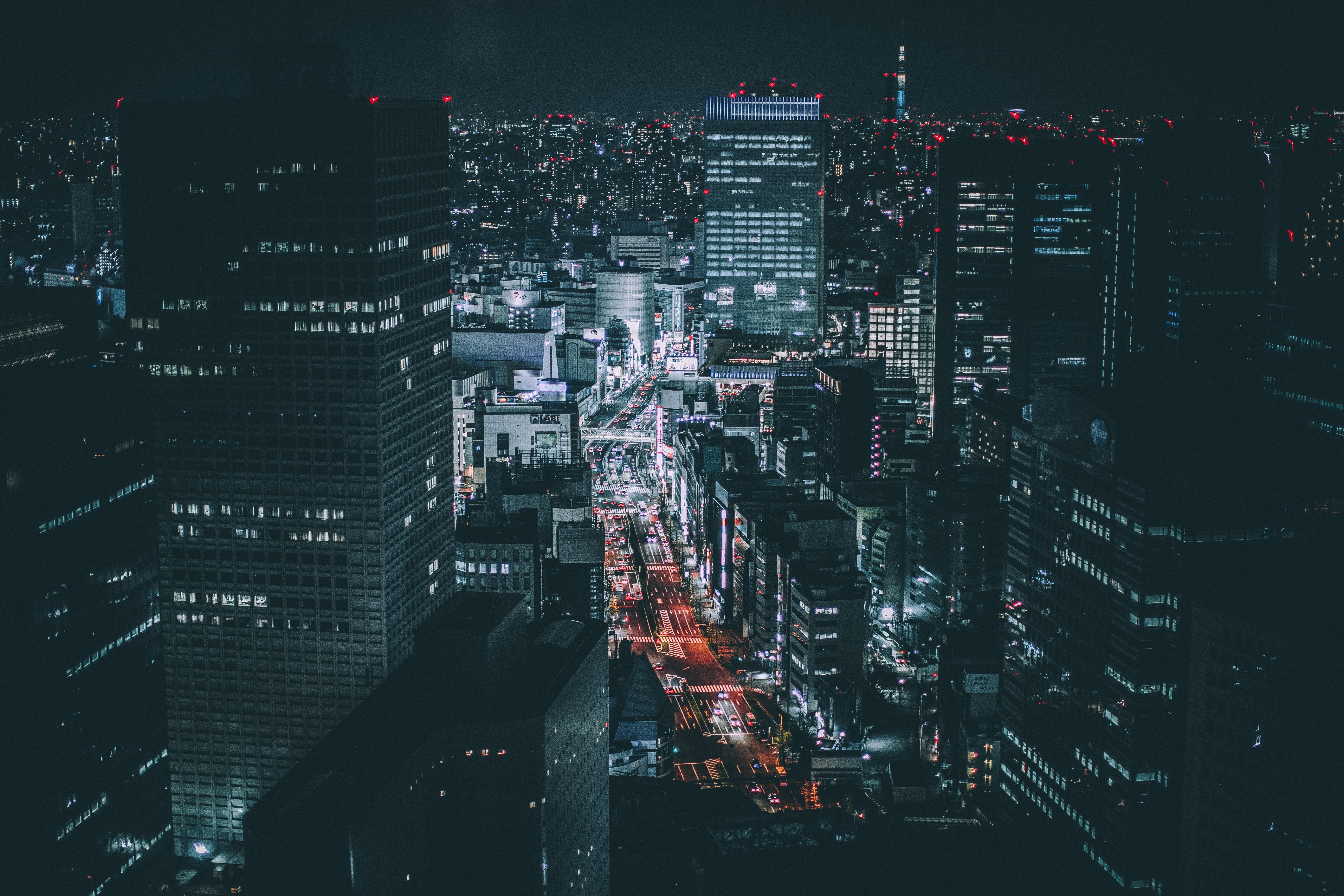 Free Images : light, architecture, sky, skyline, night