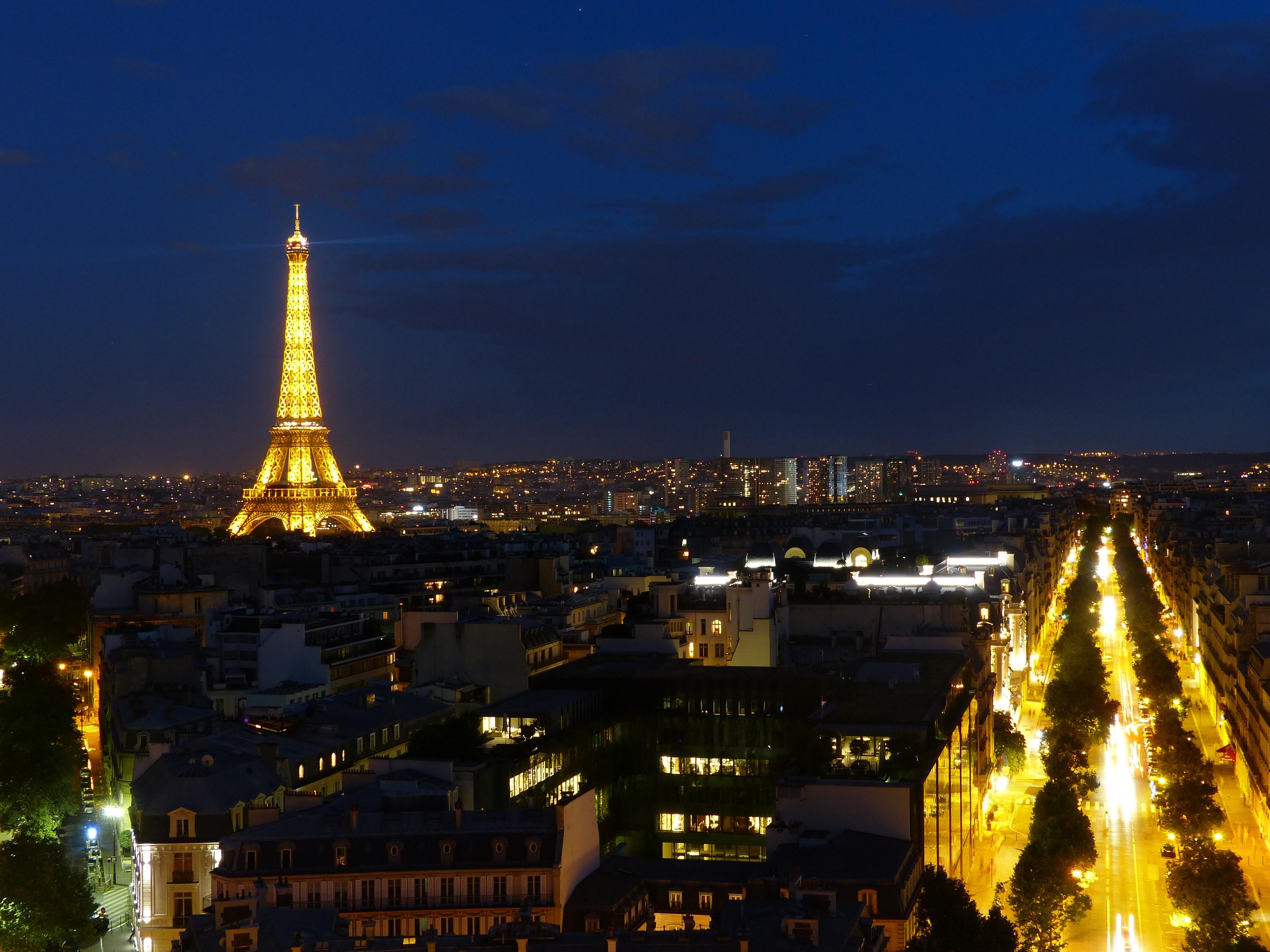 Париж в ночи картинки