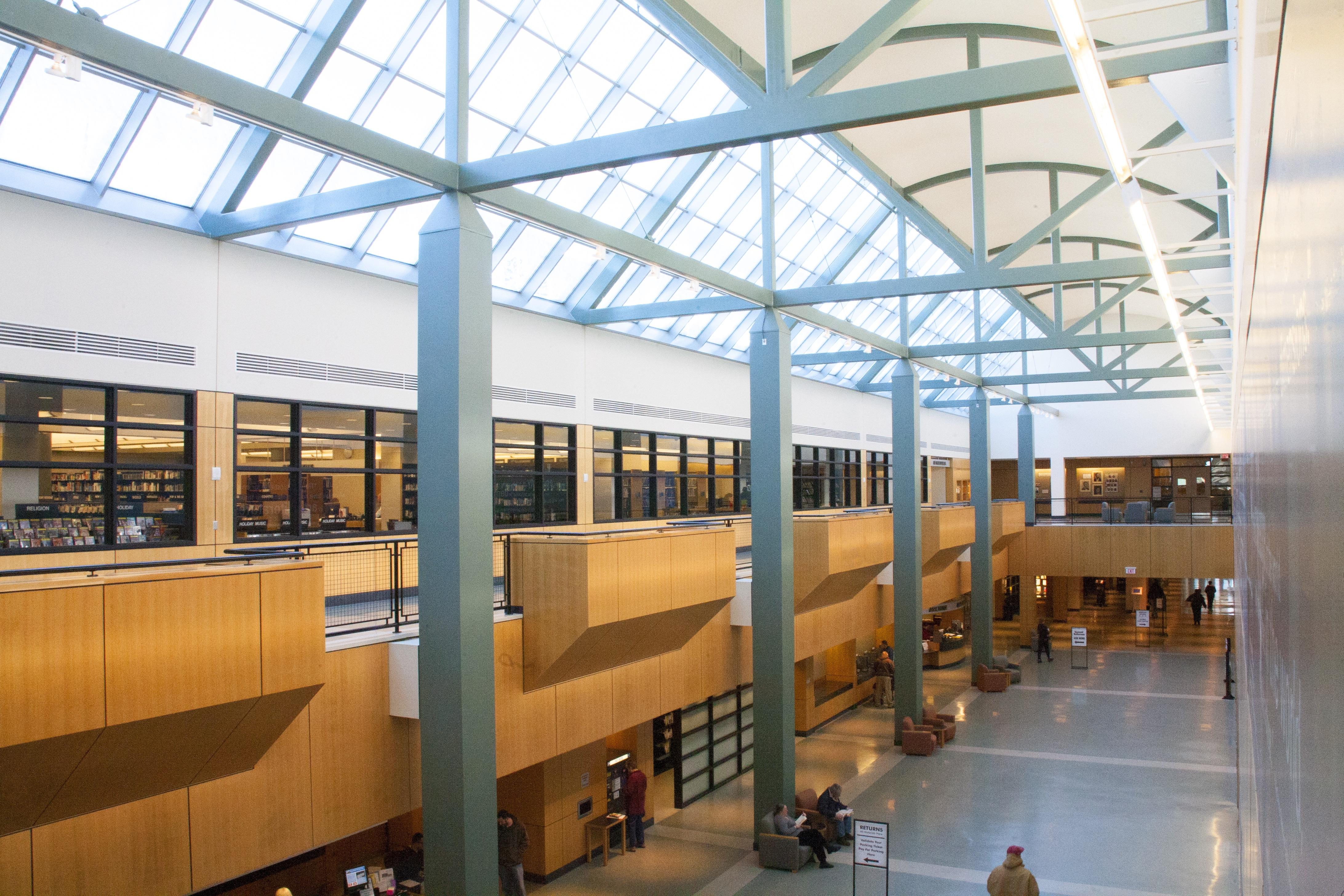 Balcony Concert Construction Railing Curve High Atrium Frame Office Black Room Modern Interior Design Airport Terminal Library Passage